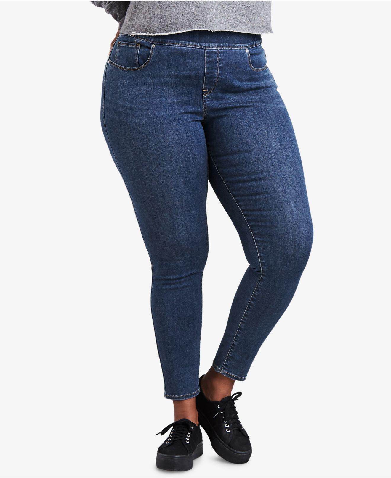 e4e4a7cd630 Lyst - Levi s ® Plus Size Pull-on Jeggings in Blue