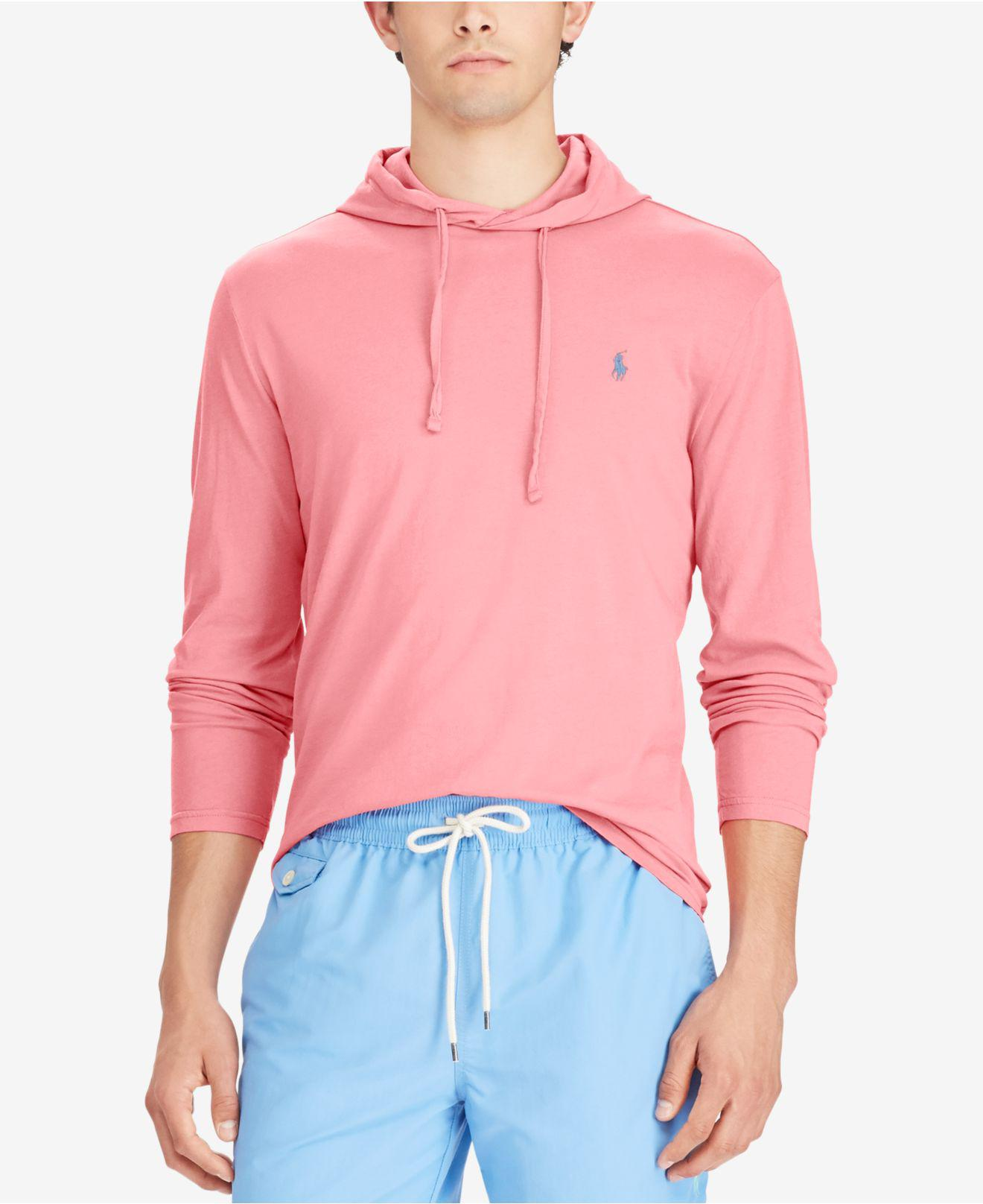 2e43fa27 ... shop best price lyst polo ralph lauren mens jersey t shirt hoodie for  men 65ce2 d8a4c