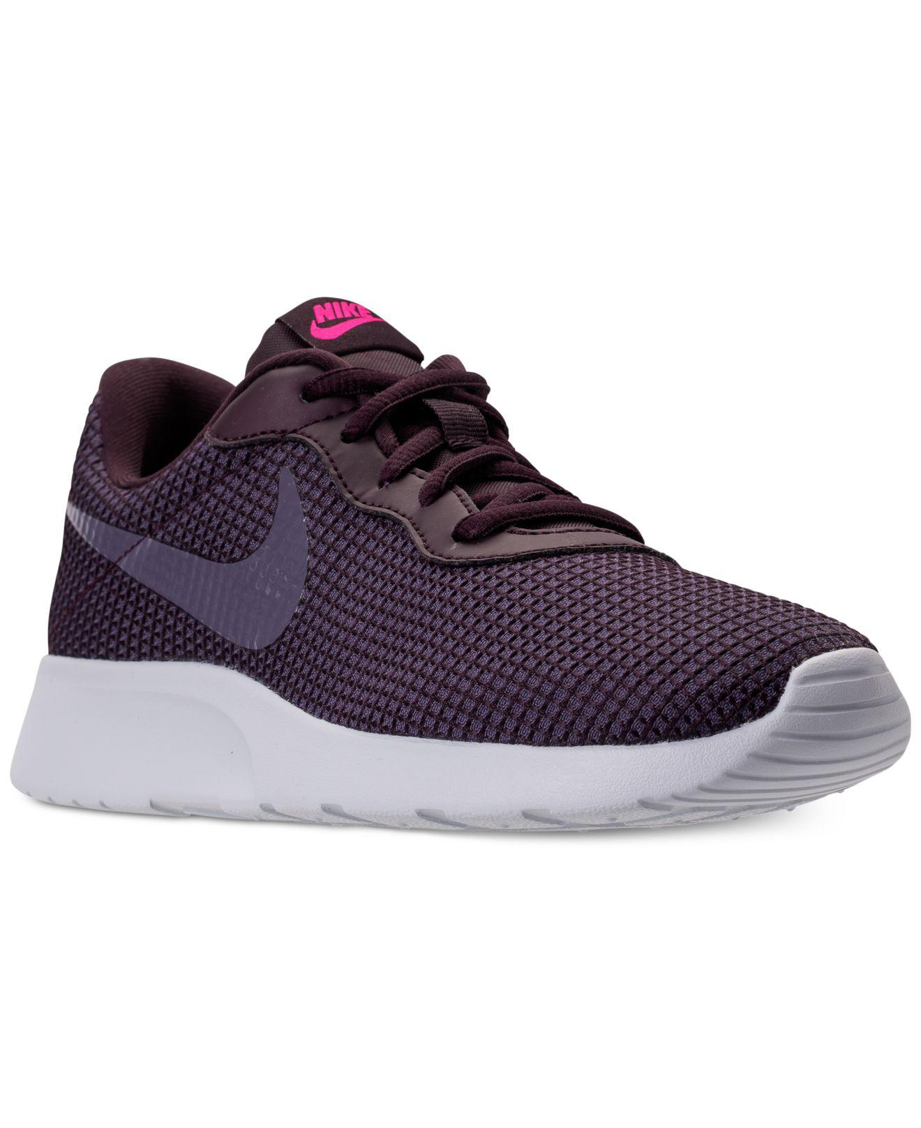 Nike. Purple Women's Tanjun Se Casual Sneakers ...
