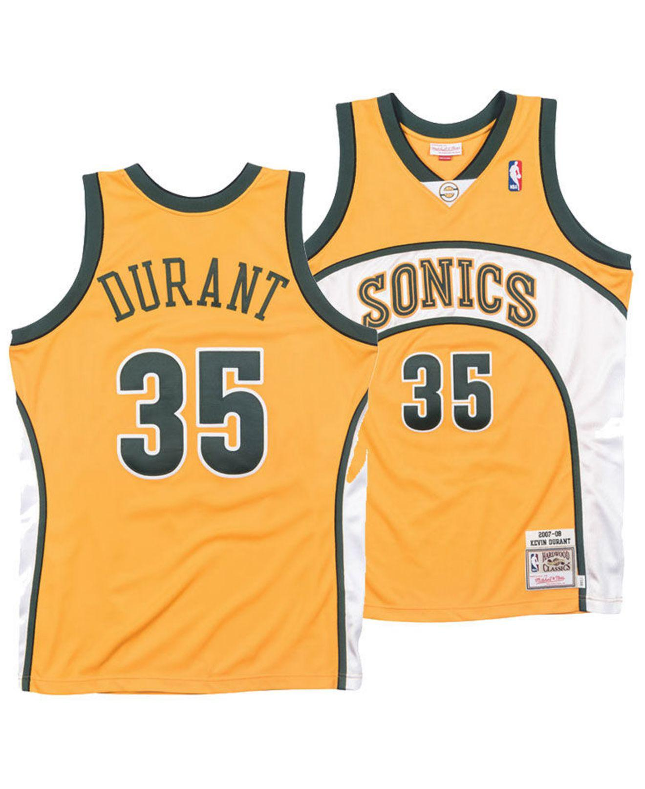 f64a020fb Mitchell   Ness. Men s Metallic Kevin Durant Seattle Supersonics Authentic  Jersey