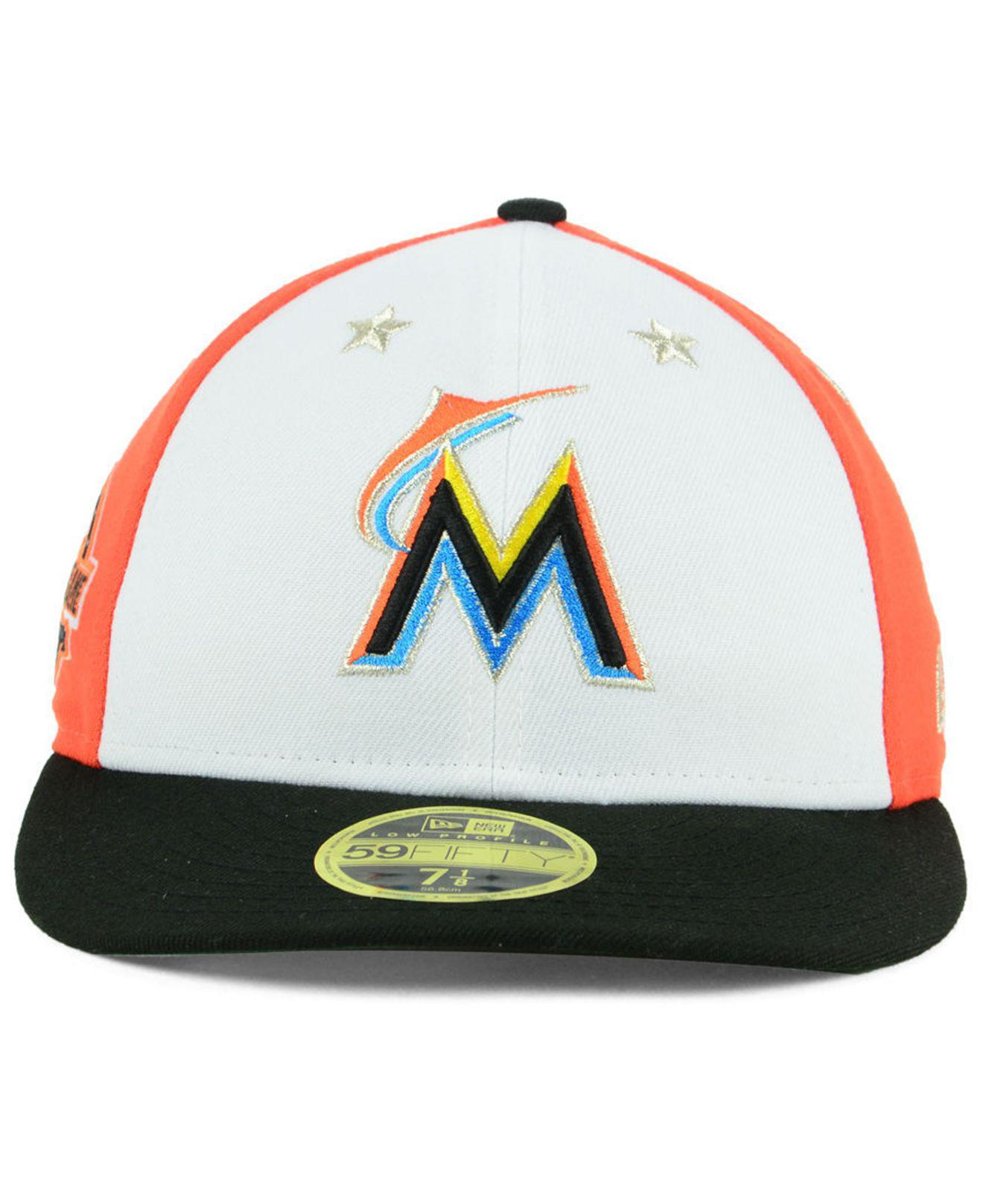 sports shoes 54fb4 444a5 ... discount code for lyst ktz miami marlins all star game patch low  profile 59fifty fitted cap