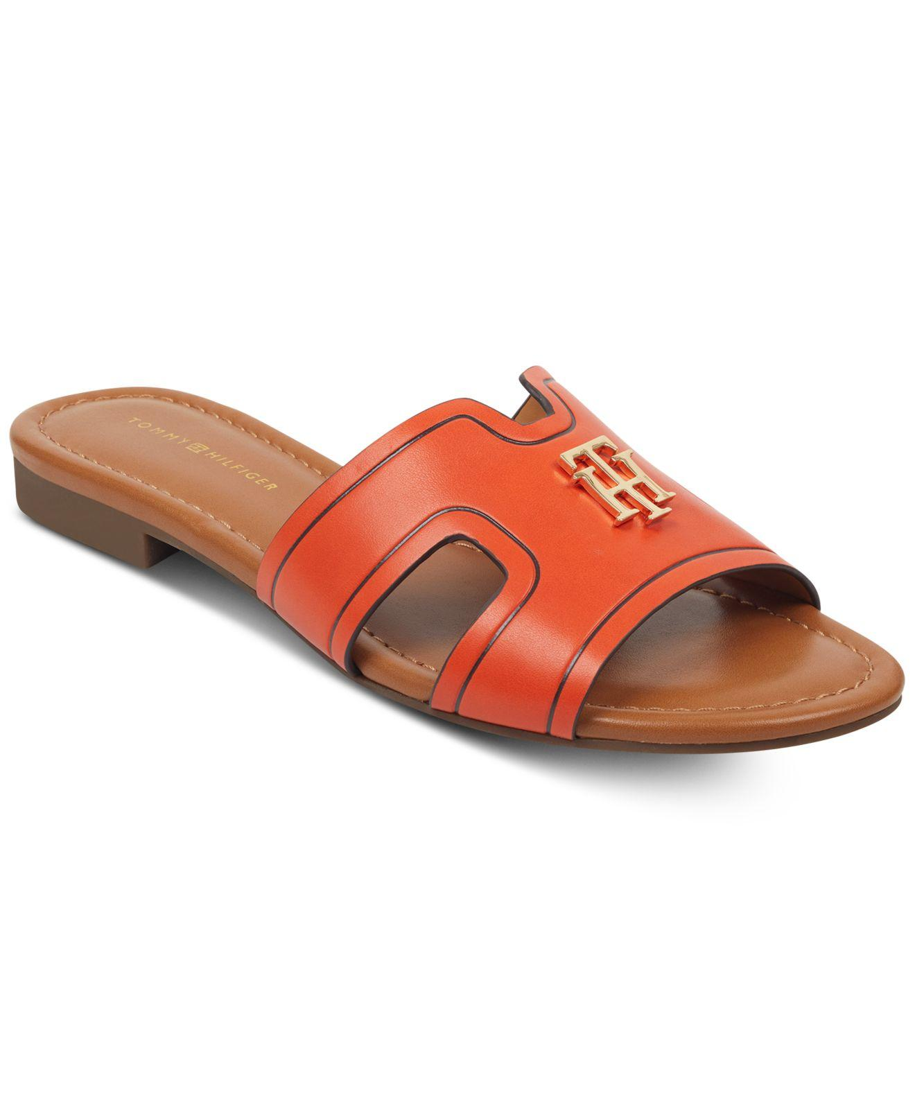 4439f98b9 Lyst - Tommy Hilfiger Sugari Flat Sandals in Orange