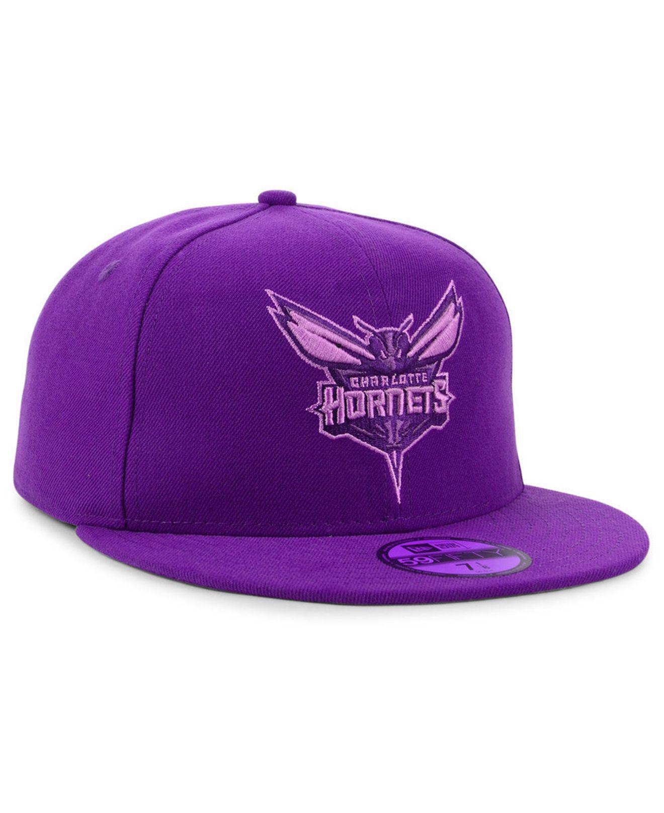 ff1d589194e Lyst - KTZ Charlotte Hornets Color Prism Pack 59fifty Cap in Purple for Men
