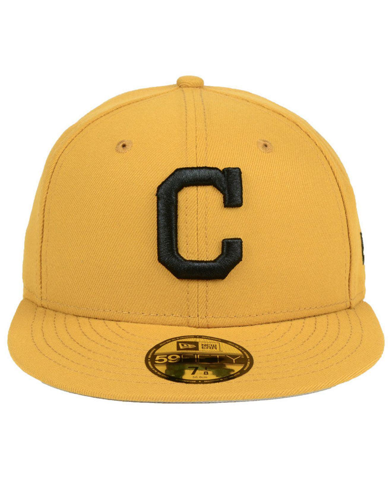 info for 80183 b3245 ... coupon code lyst ktz cleveland indians reverse c dub 59fifty fitted cap  in yellow for men