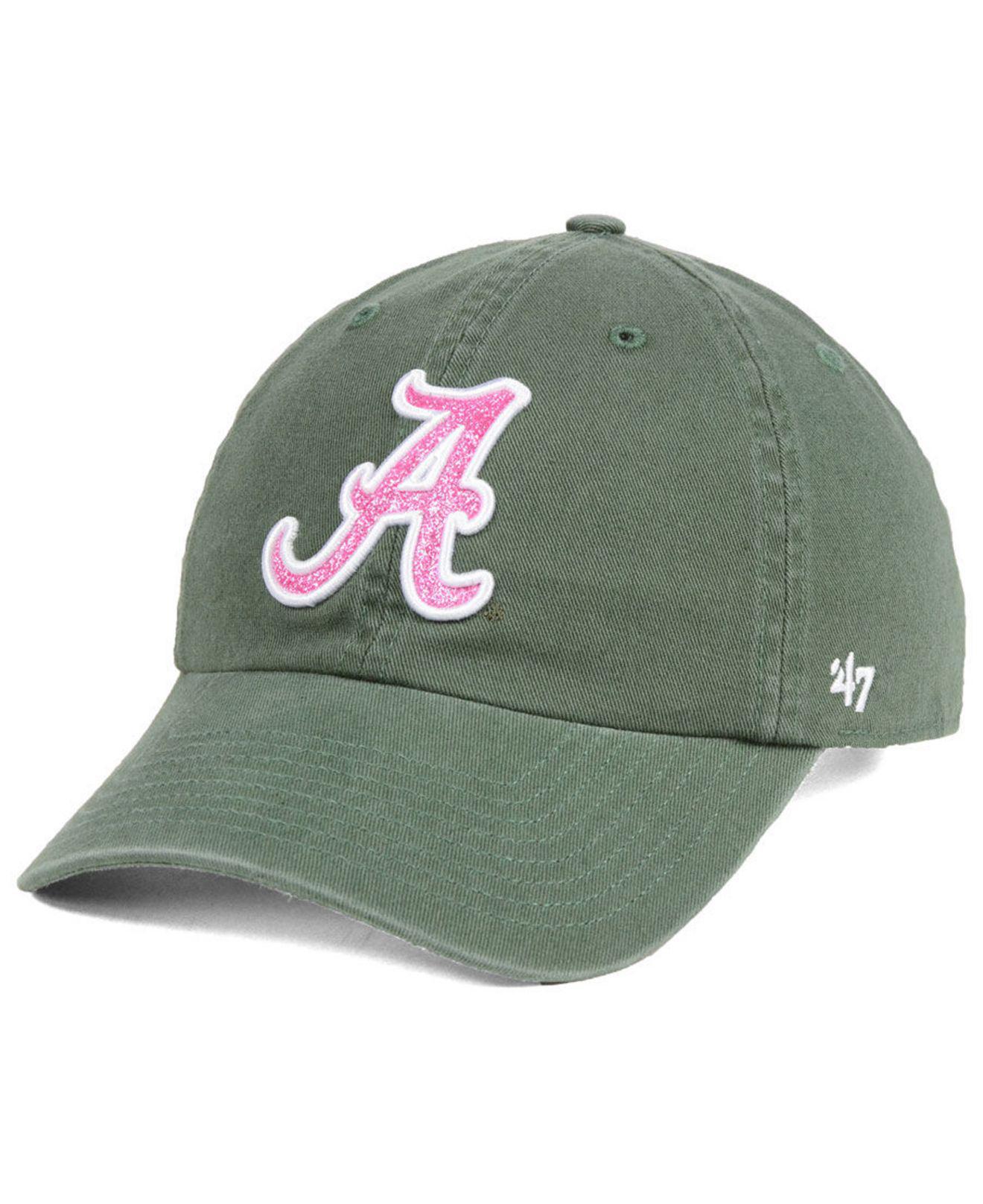 Lyst - 47 Brand Alabama Crimson Tide Glitta Clean Up Cap in Green d2effc7b4