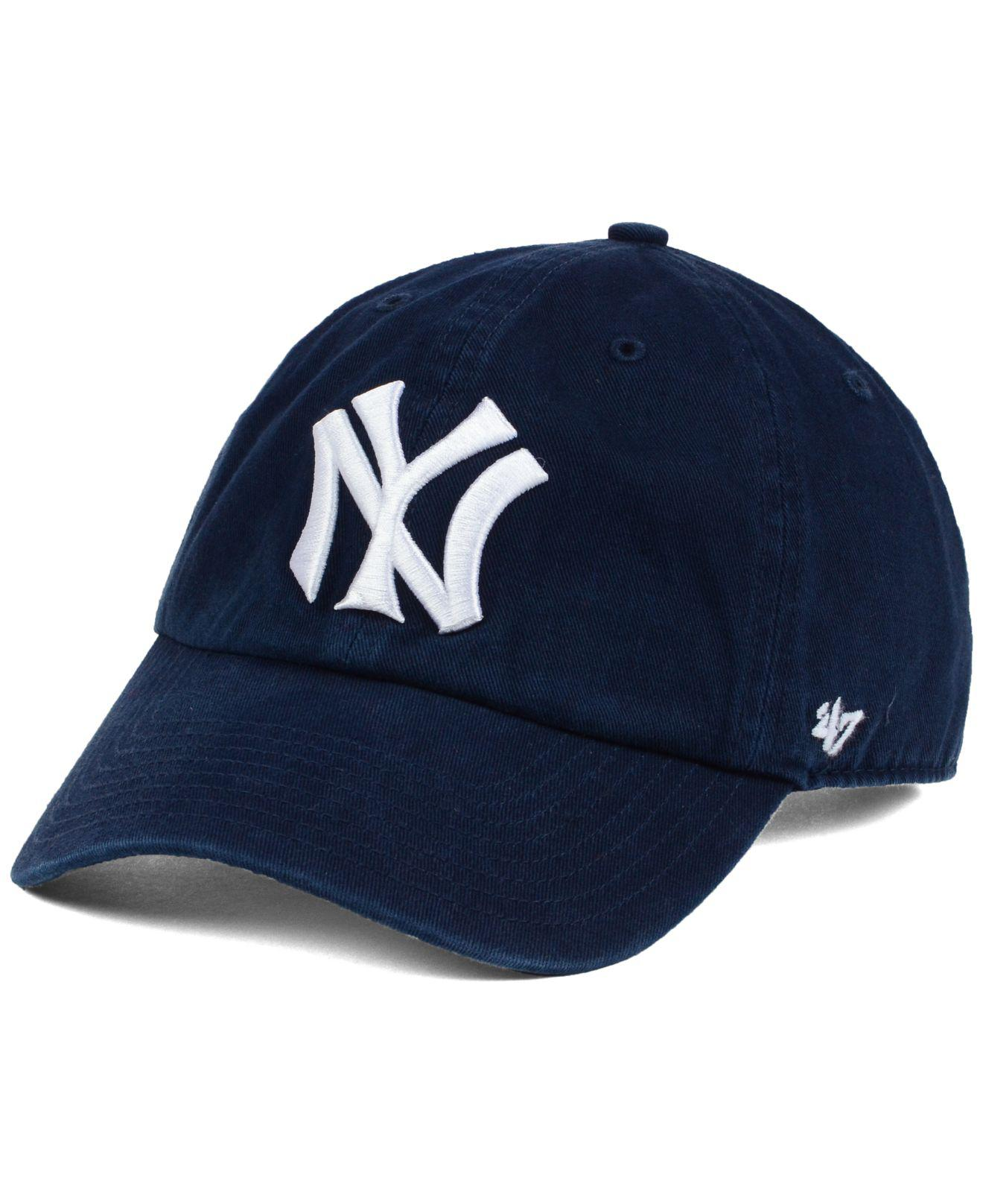 e7b6a7efbf0 Lyst - 47 Brand New York Yankees Cooperstown Clean Up Cap in Blue ...