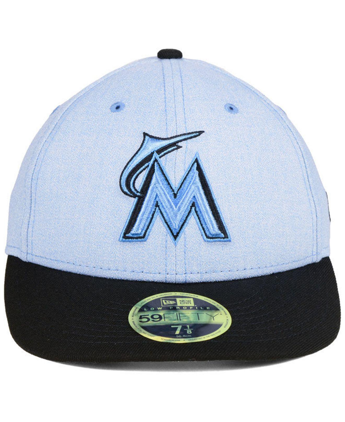 new concept 10a52 19b80 Lyst - KTZ Miami Marlins Father s Day Low Profile 59fifty Cap in Blue for  Men