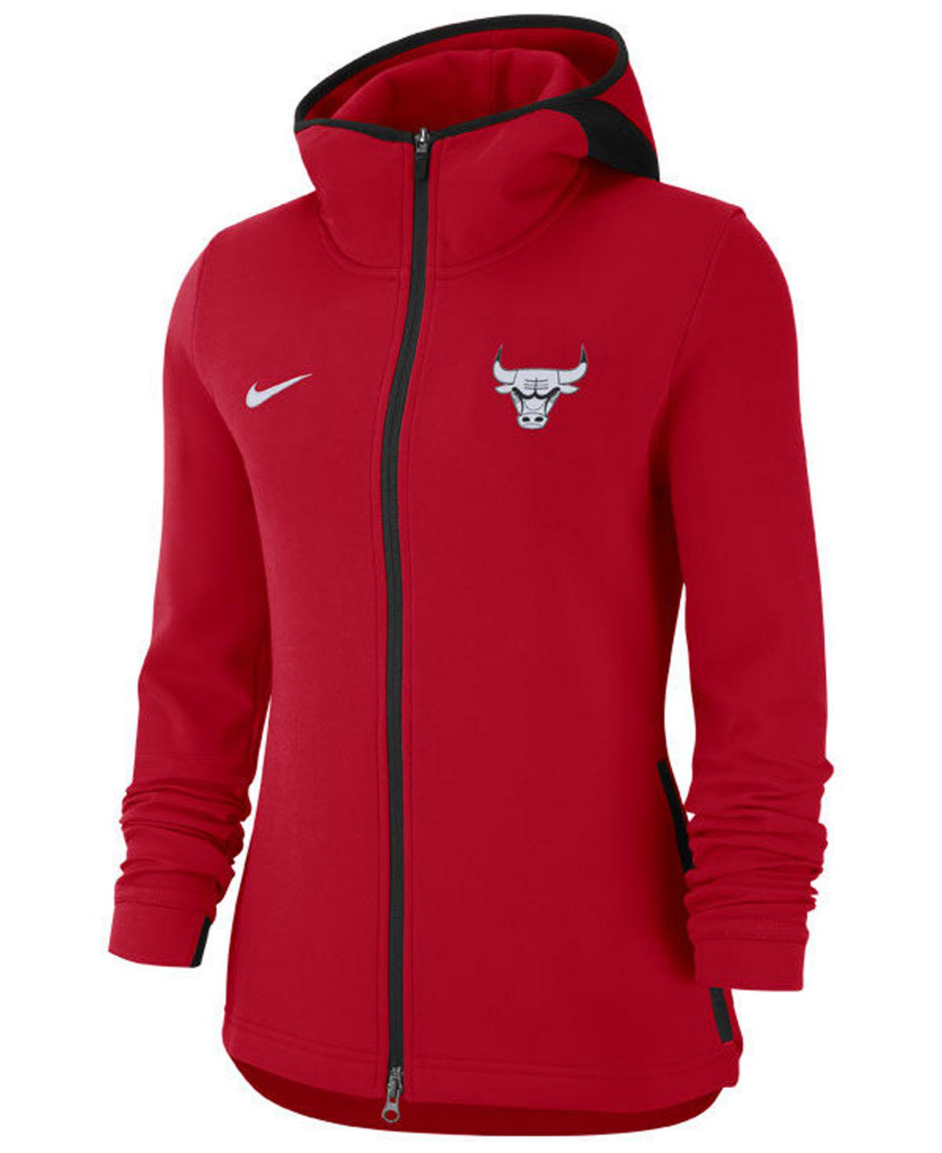 36724be275 Lyst - Nike Chicago Bulls Showtime Full-zip Hoodie in Red