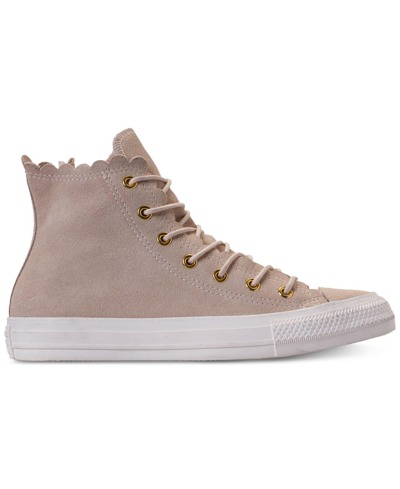 Lyst - Converse Chuck Taylor All Star Scallop Natural - Save 28% d7a699ba3