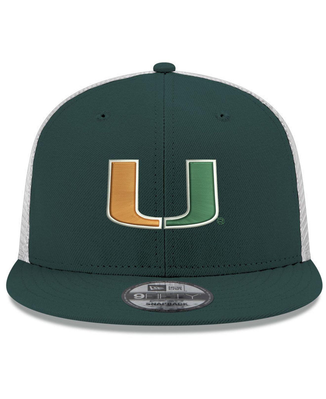 12874fb2c10 Lyst - KTZ Miami Hurricanes Tc Meshback Snapback Cap in Green for Men