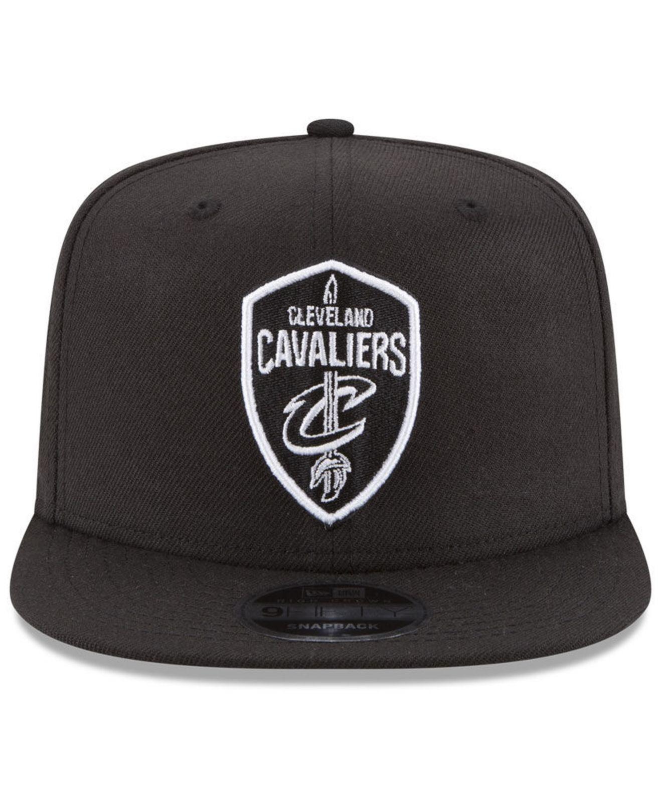 newest 548a2 15921 Lyst - KTZ Cleveland Cavaliers Anniversary Patch 9fifty Snapback Cap in  Black for Men