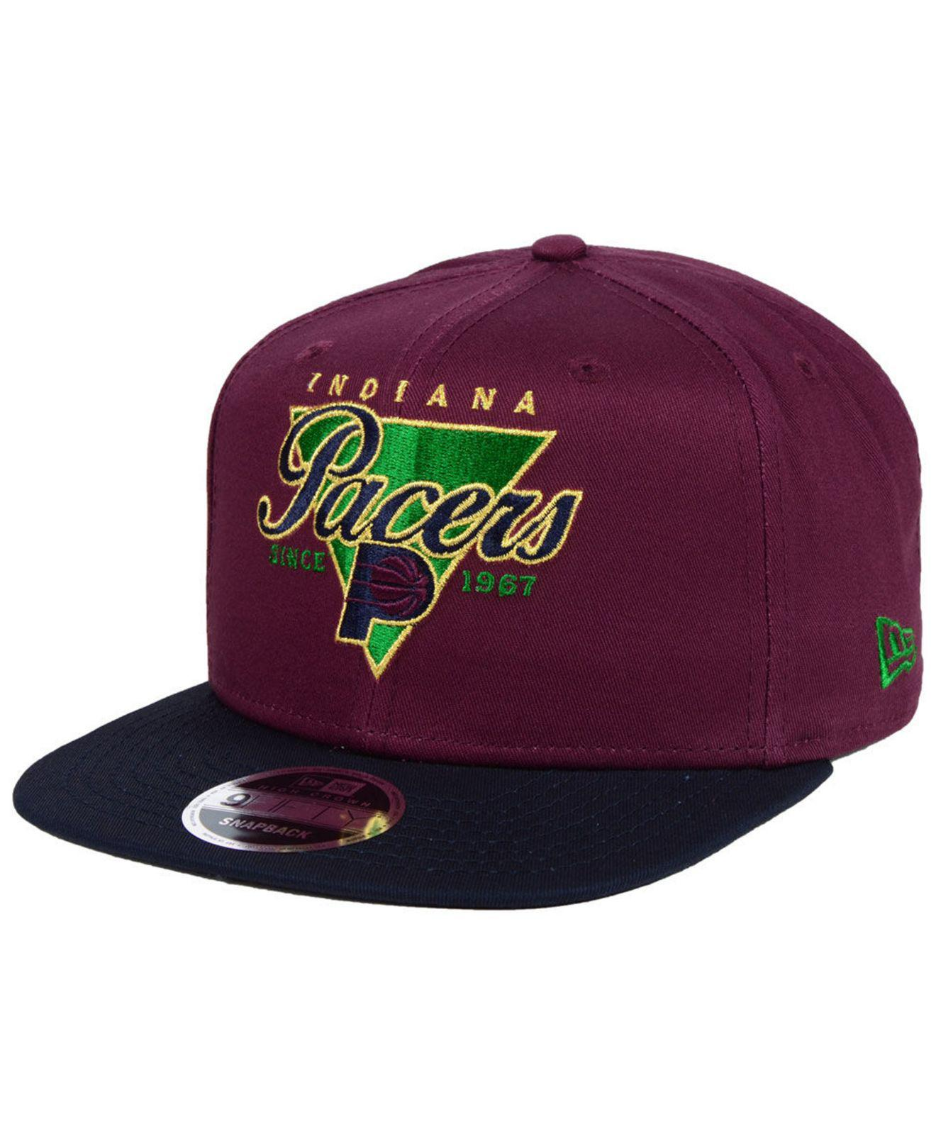 big sale 3e3a9 e79f3 KTZ Indiana Pacers 90s Throwback 9fifty Snapback Cap for Men - Lyst