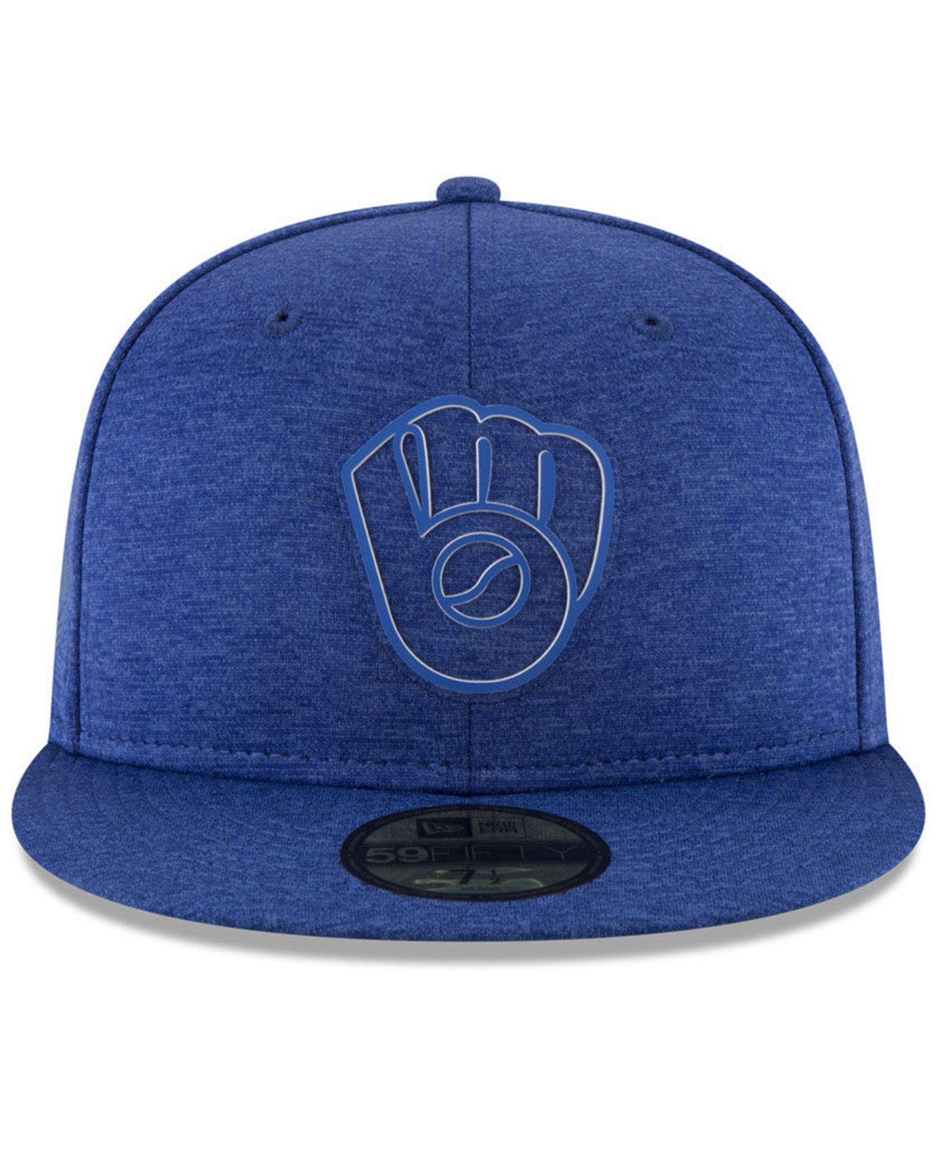 big sale 182c0 933f9 ... discount code for lyst ktz milwaukee brewers clubhouse 59fifty fitted cap  in blue e2987 cd2ca