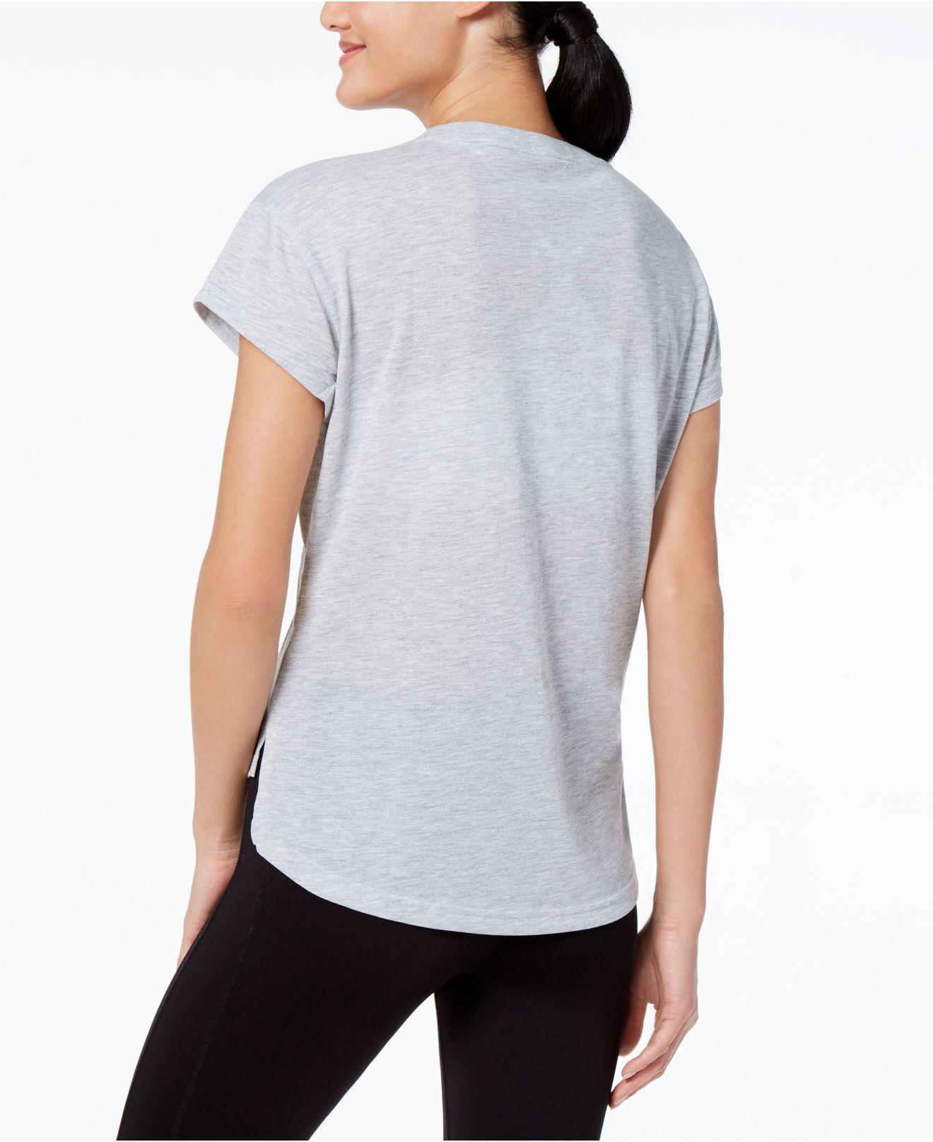 8e08a4b458cb Lyst - Puma Urban Sport Metallic-logo T-shirt in Gray
