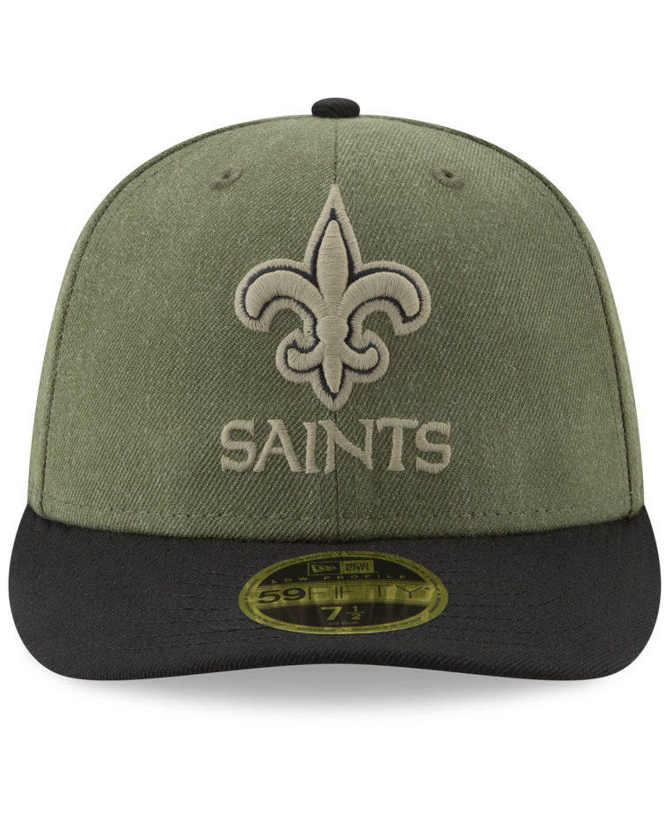 Lyst - KTZ New Orleans Saints Salute To Service Low Profile 59fifty Fitted  Cap 2018 in Green for Men 4689ae631