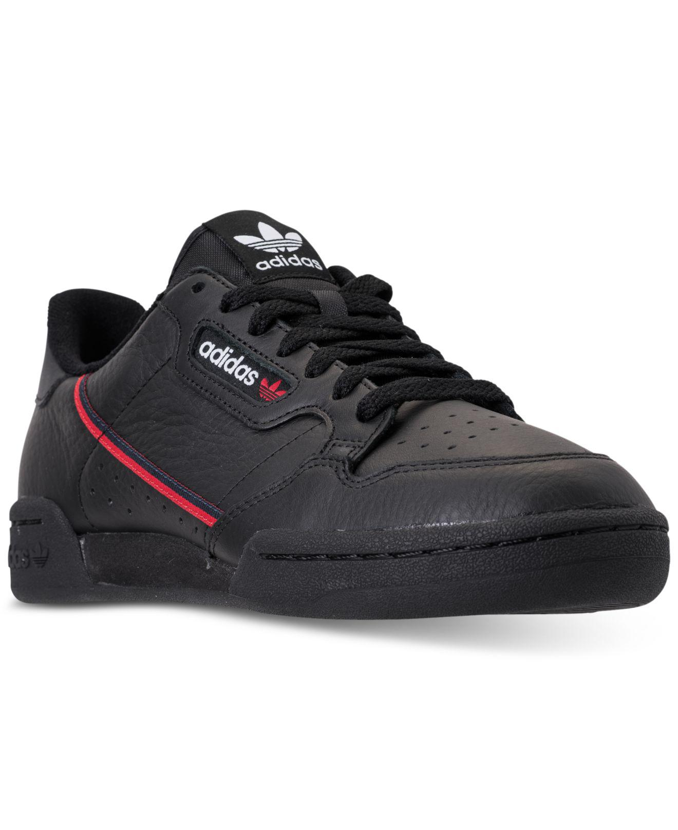 43275553b322 Lyst - adidas Men s Continental 80 Leather Low-top Sneakers in Black ...