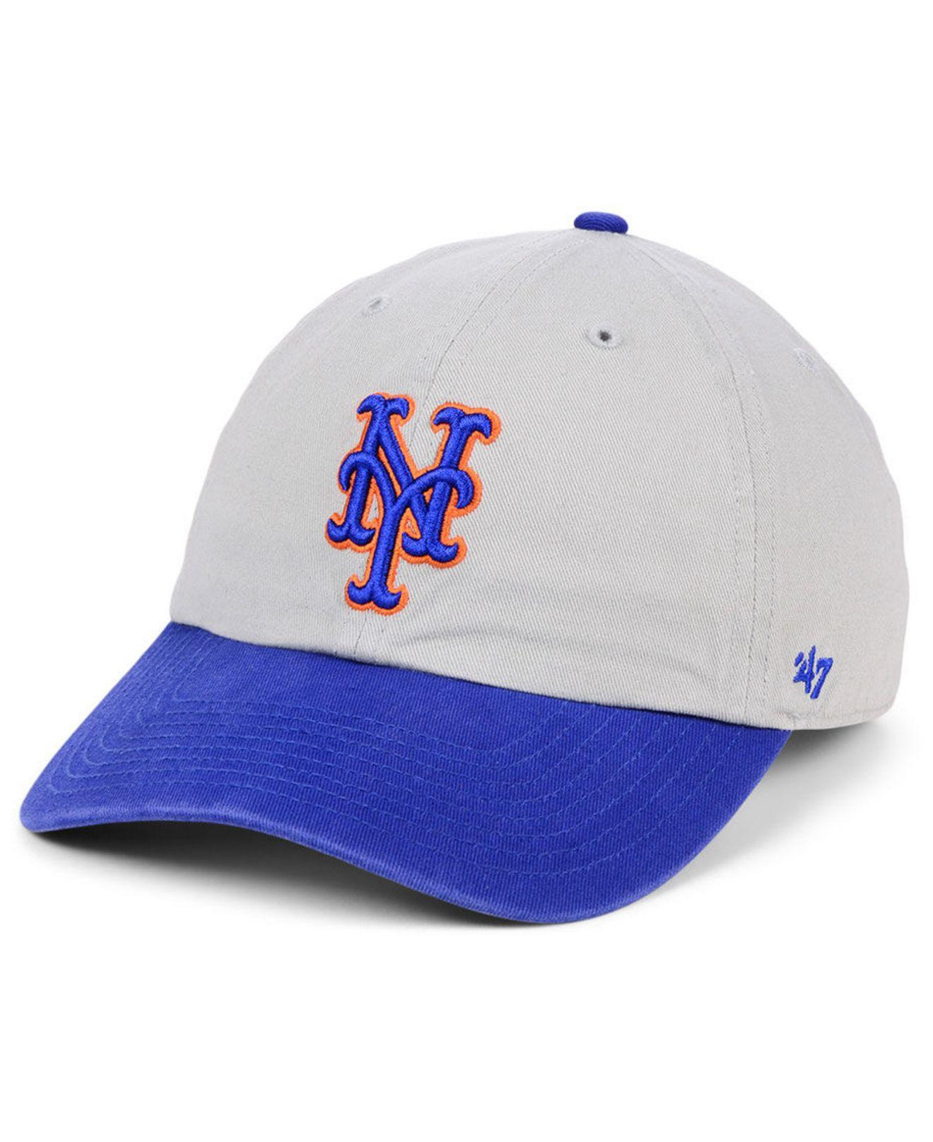 finest selection 5cc68 366e3 47 Brand. Men s New York Mets Gray 2-tone Clean Up Cap