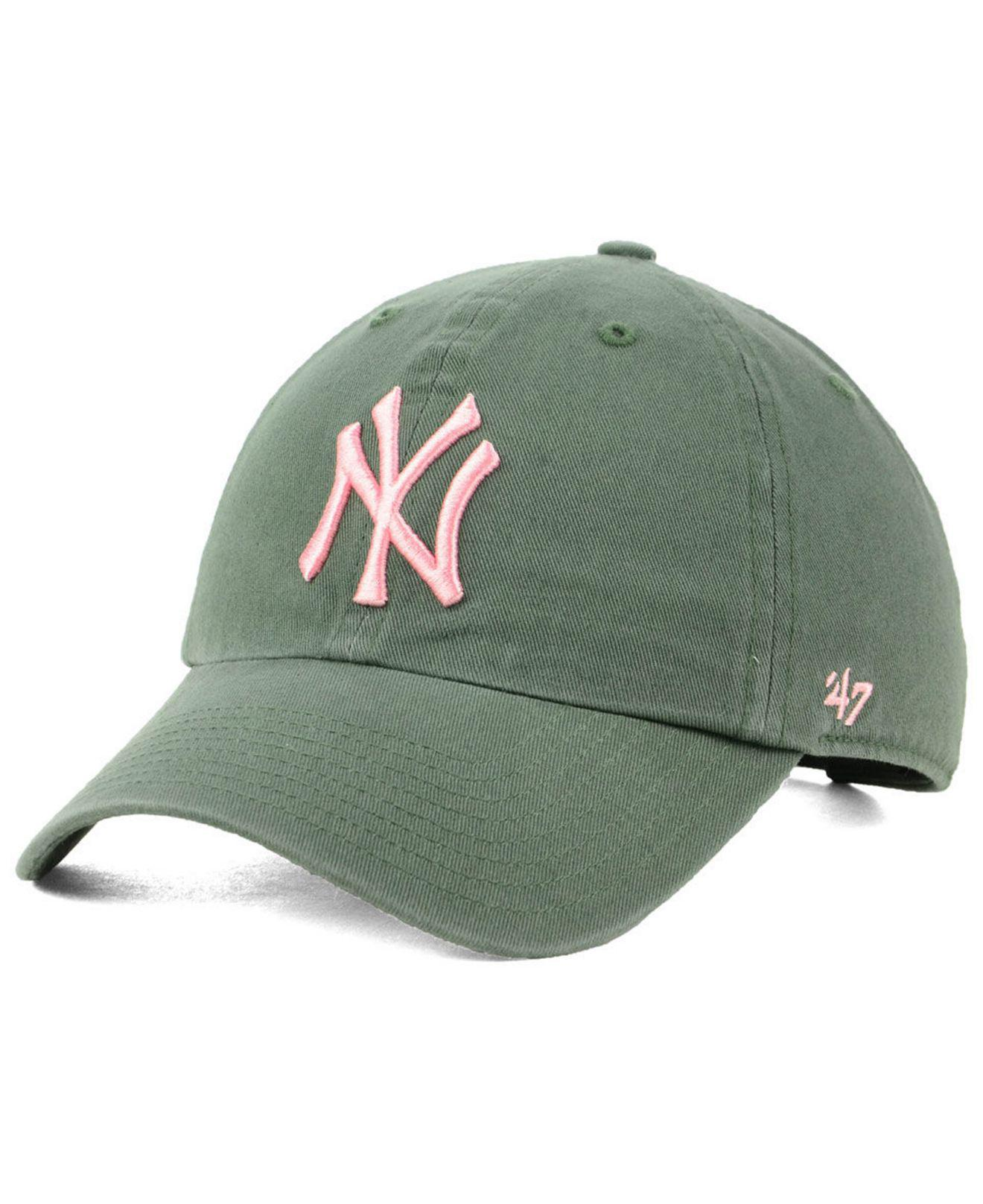ae0b90f5535 50% off 47 brand. womens green new york yankees moss pink clean up cap