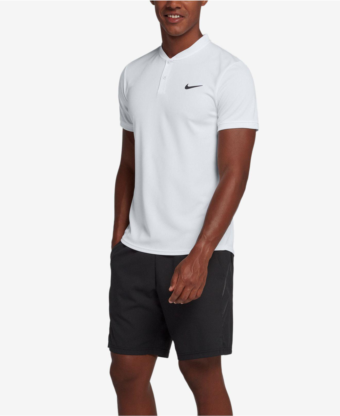 35e7c2c95 Nike Court Dry Blade-collar Tennis Polo in White for Men - Lyst