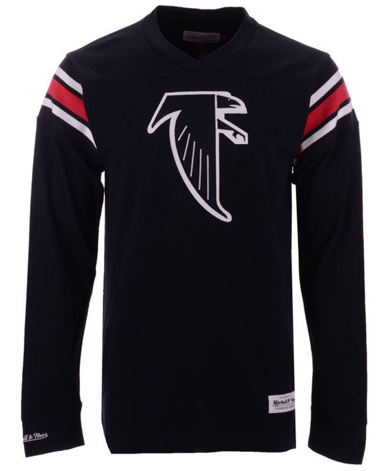 d5c59792d Lyst - Mitchell   Ness Atlanta Falcons Team Captain V-neck Long ...