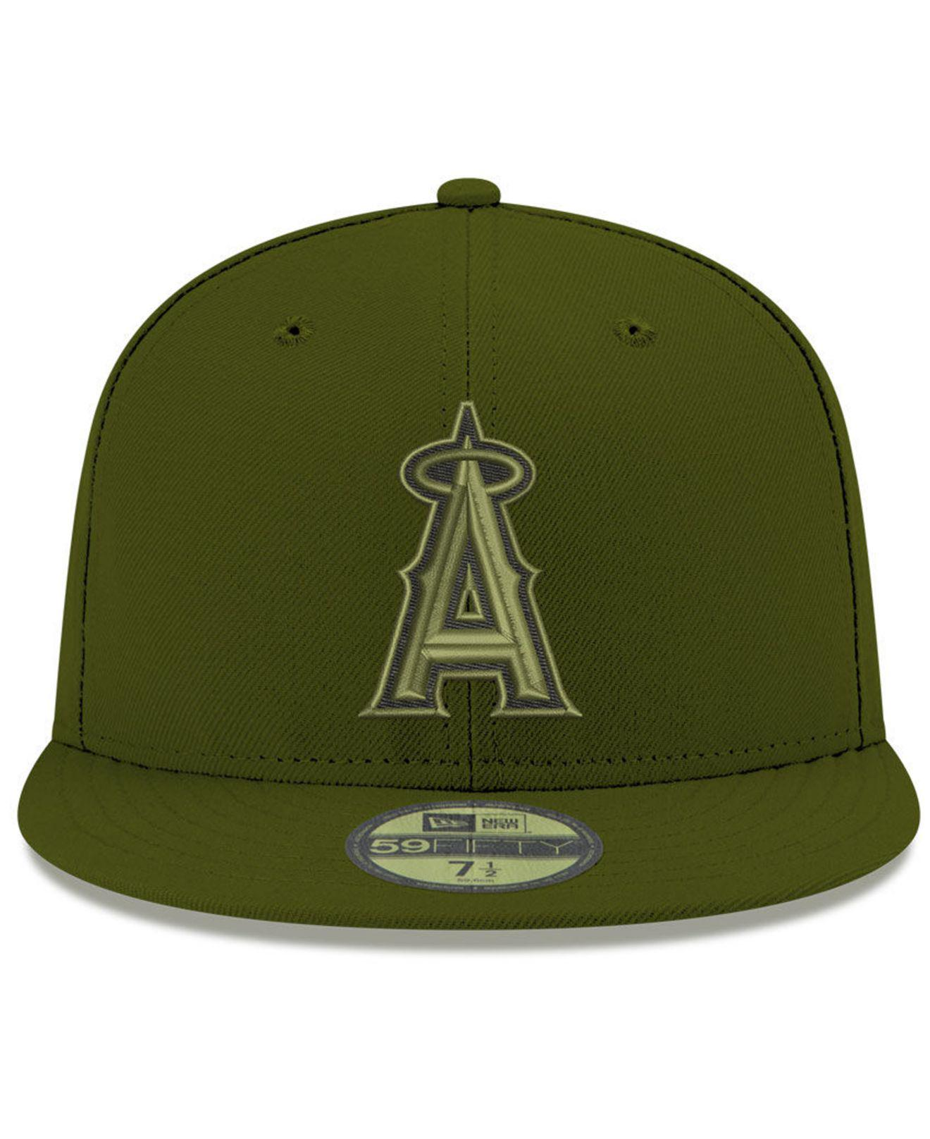 release date: 4bd24 5d17e Lyst - KTZ Los Angeles Angels Reverse C-dub 59fifty Fitted Cap in Green for  Men