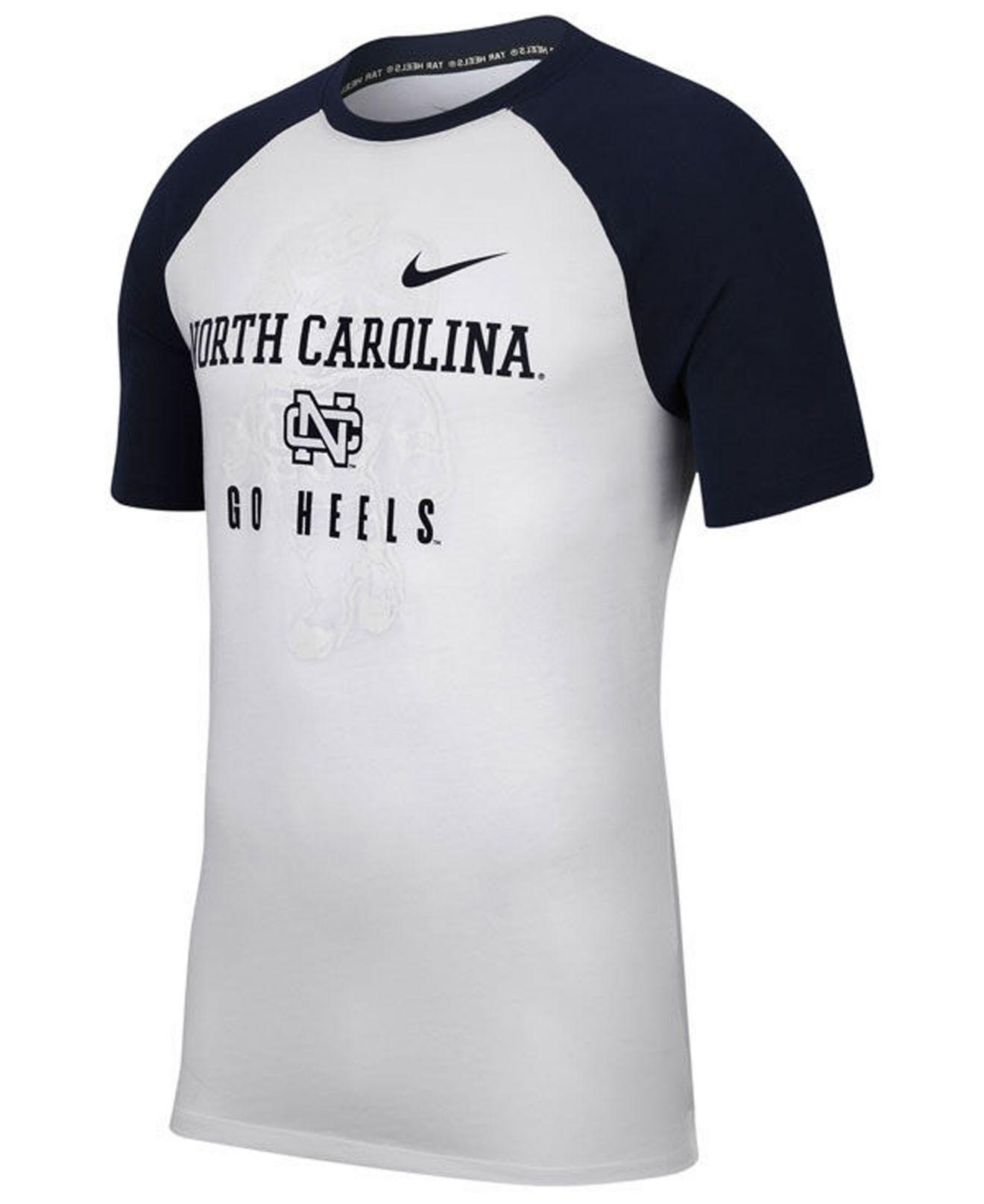 b473d86acf3f Lyst - Nike North Carolina Tar Heels Vault Raglan T-shirt in White ...