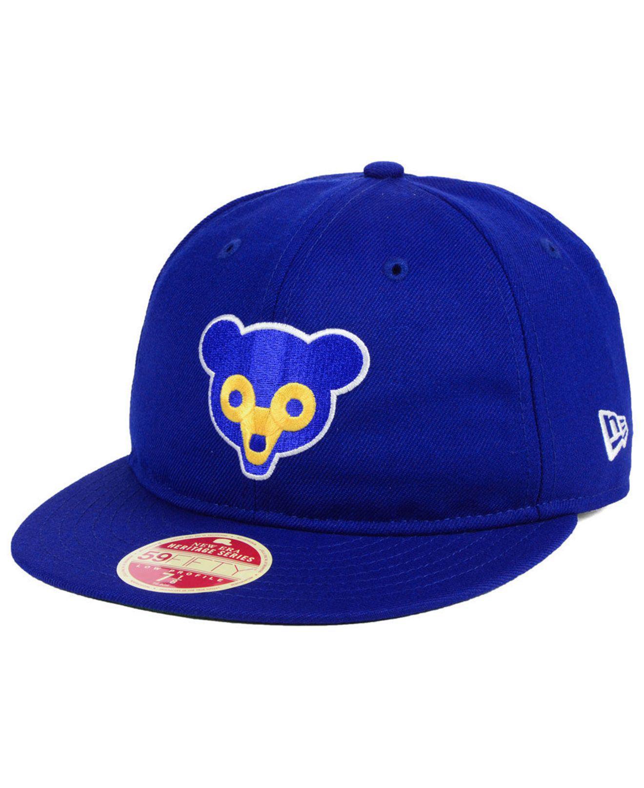 sale retailer 788fa e677f KTZ. Men s Blue Chicago Cubs Heritage Retro Classic 59fifty Fitted Cap
