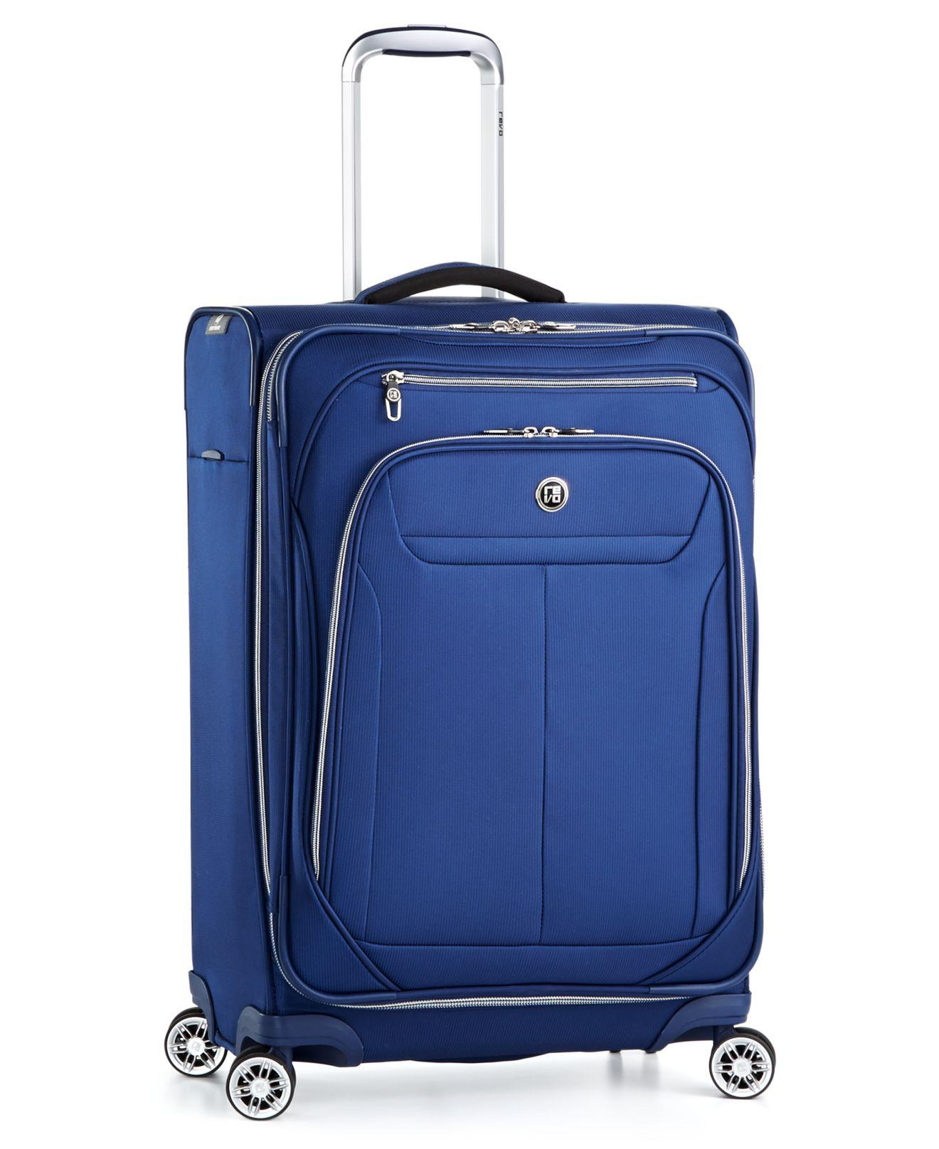 """Lyst - Revo 25"""" Expandable Spinner Suitcase in Blue"""