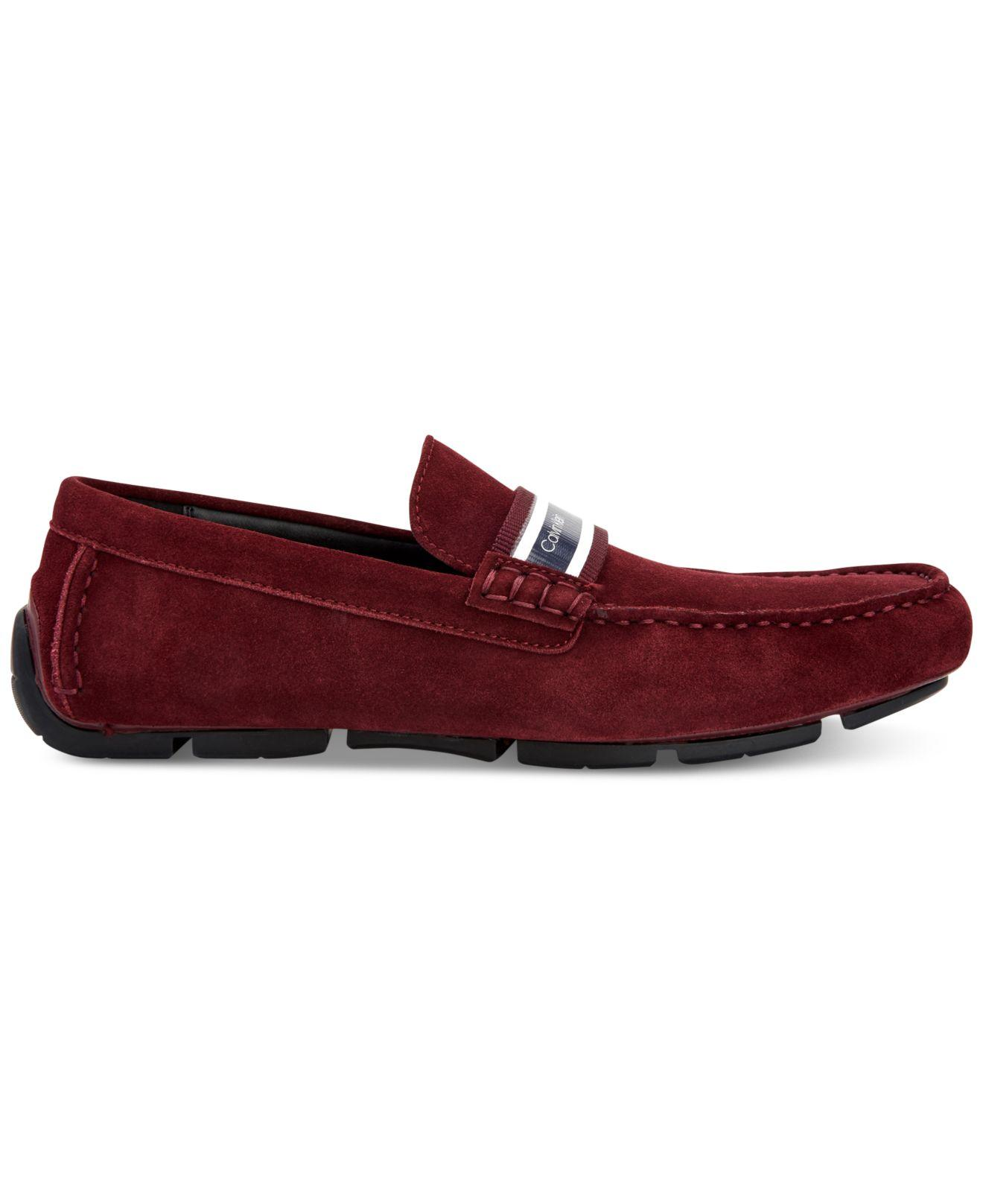 5022eb2639a Lyst - Calvin Klein Kashton Loafers in Red for Men