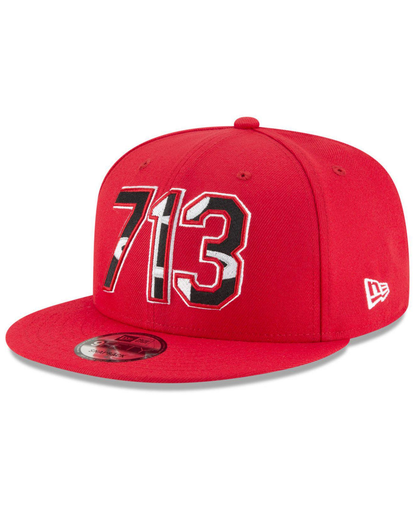 467099665c2 Lyst - KTZ Houston Rockets Area Code 9fifty Snapback Cap in Red for Men