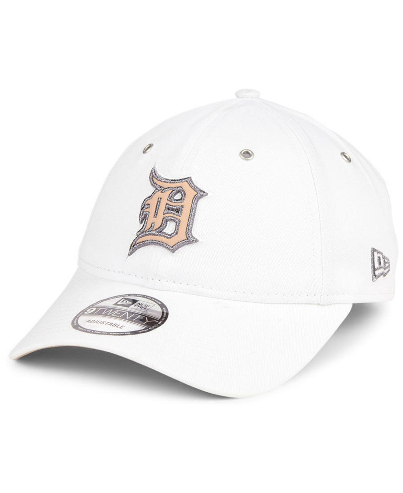 buy popular 3af54 93afc ... where to buy ktz. womens white detroit tigers metallic pastel 9twenty  cap a2eef f9017