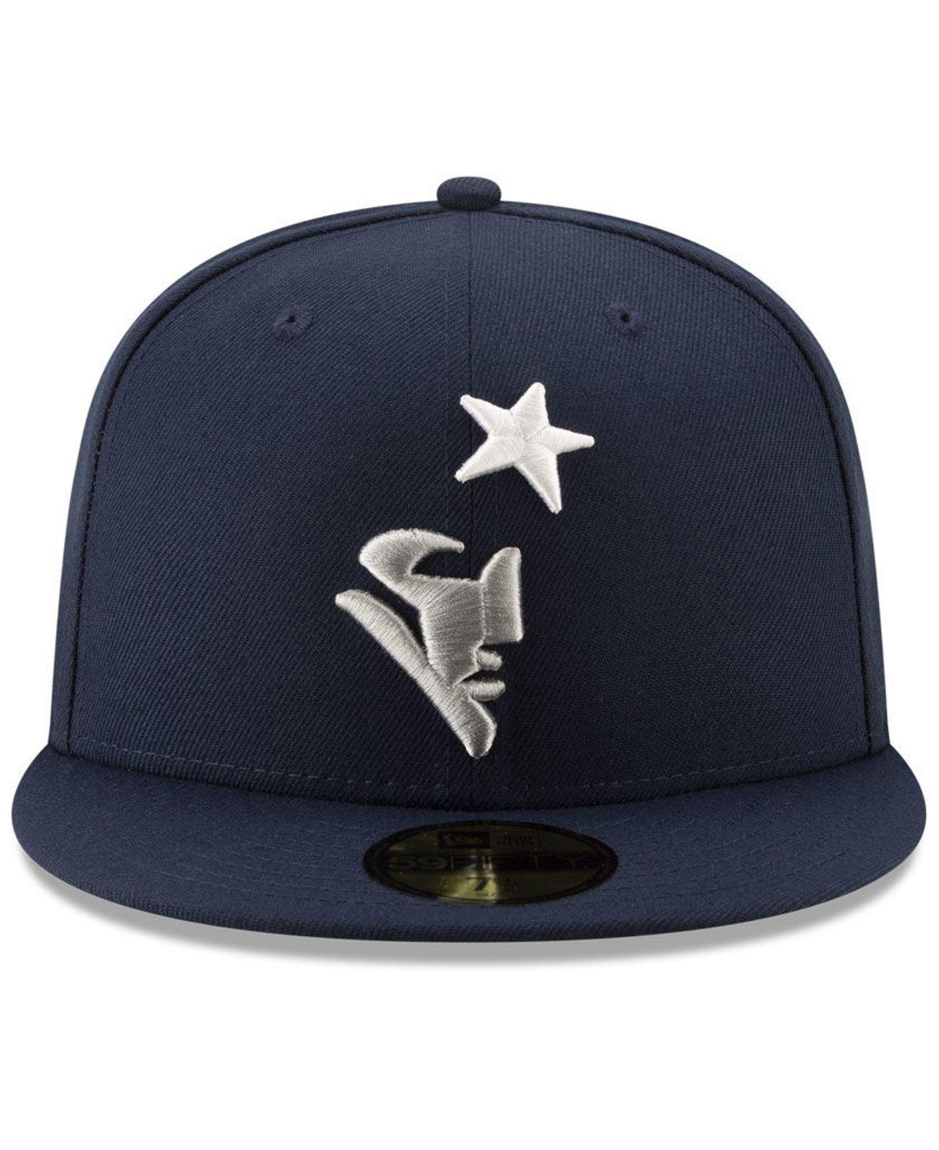 45913ce8950 Lyst - KTZ New England Patriots Logo Elements Collection 59fifty Fitted Cap  in Blue