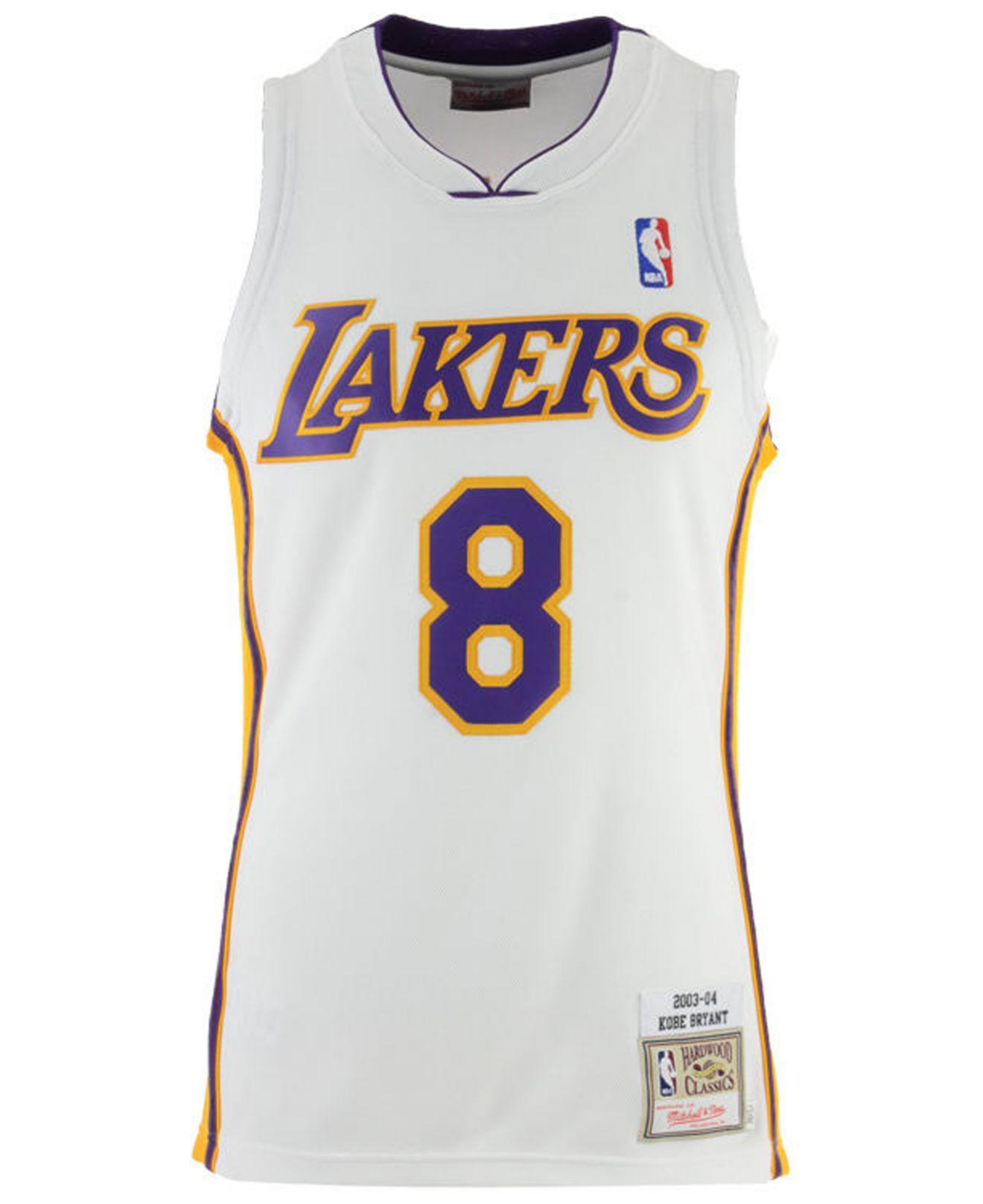 eafa2650cc1 Mitchell   Ness. Men s White Kobe Bryant Los Angeles Lakers Authentic Jersey