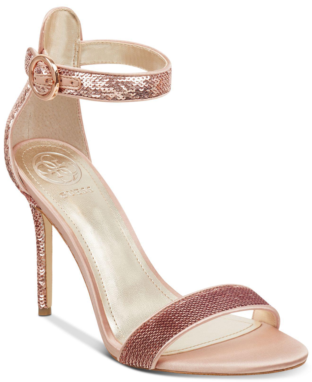 92ca66e30 Guess Kahluan Dress Sandals in Metallic - Lyst