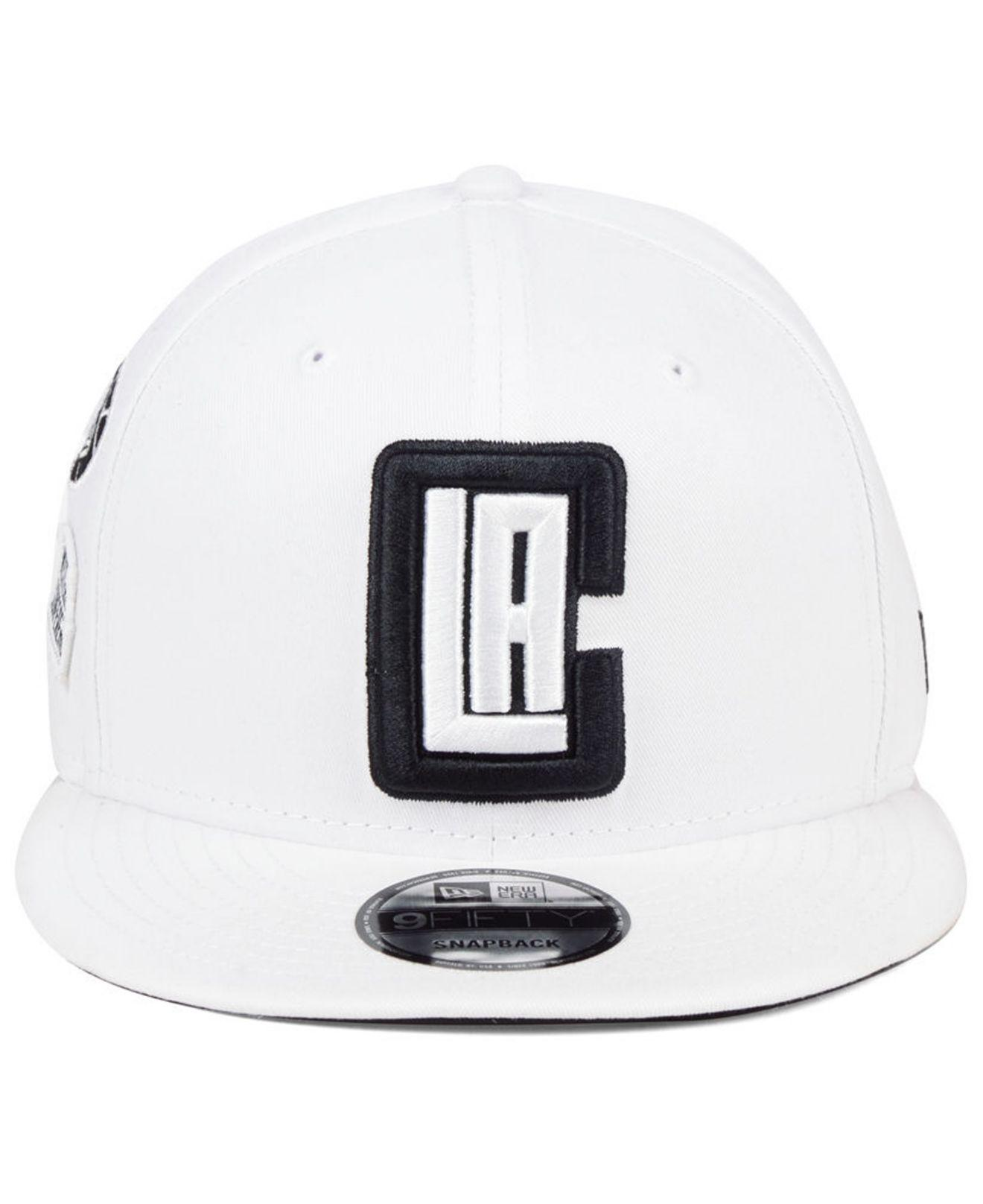 cheap for discount 58026 c6e64 KTZ Los Angeles Clippers Night Sky 9fifty Snapback Cap in White for Men -  Lyst