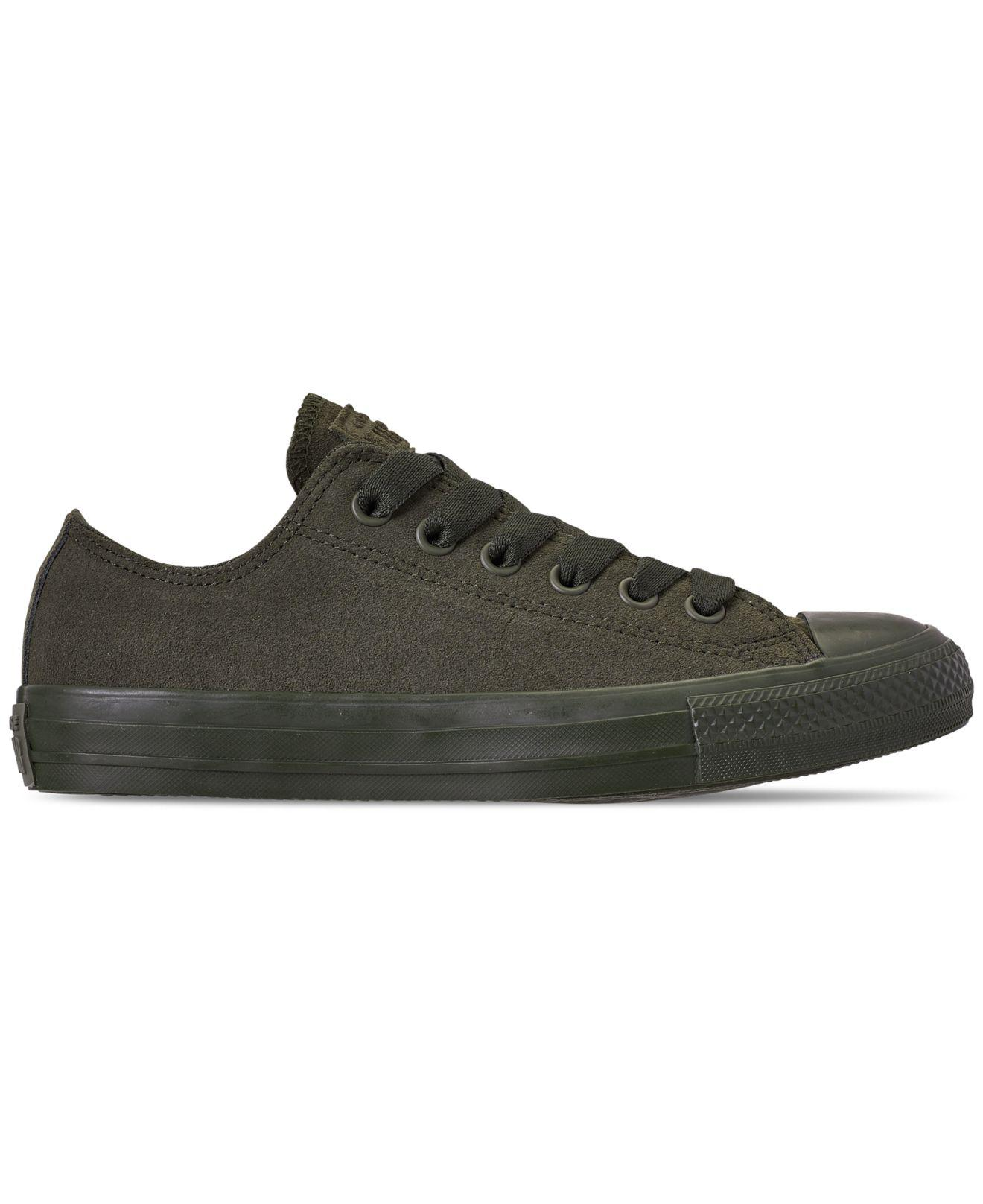 9ac30be1ba32 Lyst - Converse Unisex Chuck Taylor All Star Suede Mono Color Low Top Casual  Sneakers From Finish Line in Green