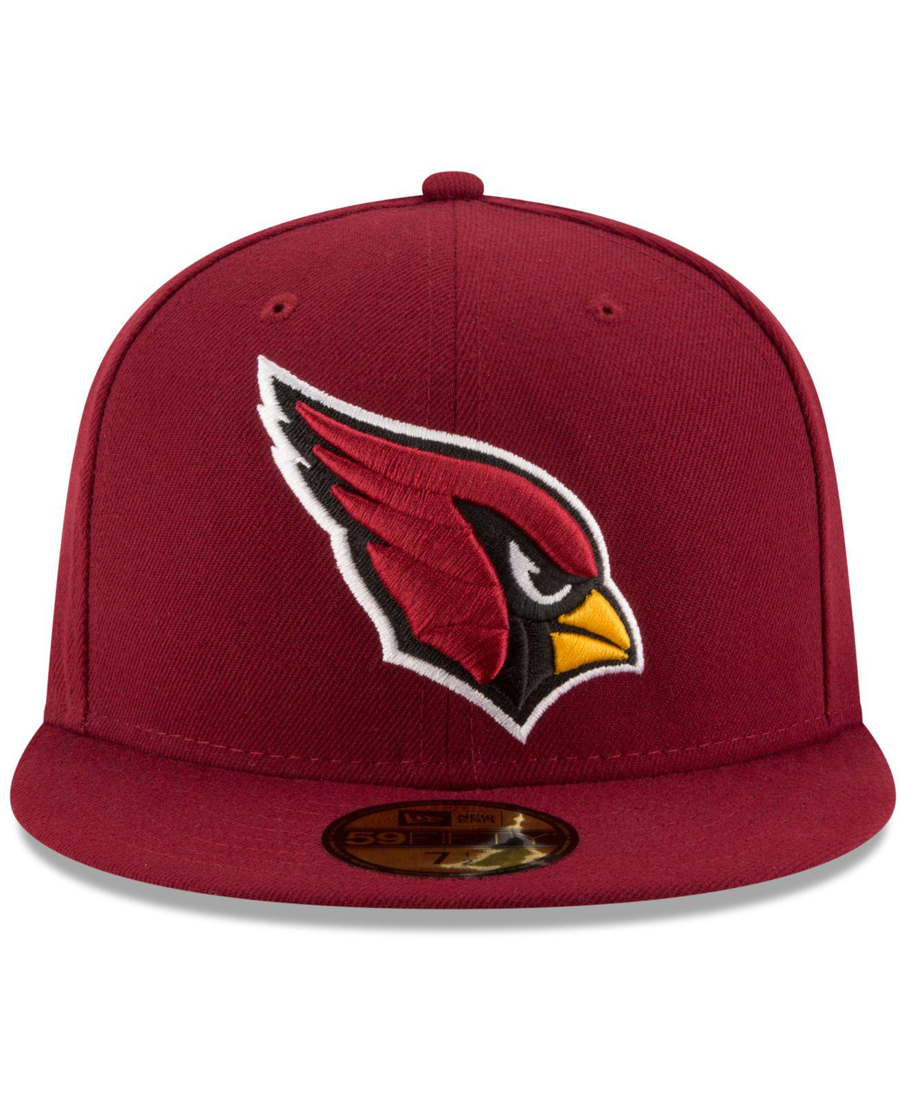 save off 45712 496c1 KTZ Arizona Cardinals Team Basic 59fifty Cap in Red for Men - Save 8% - Lyst