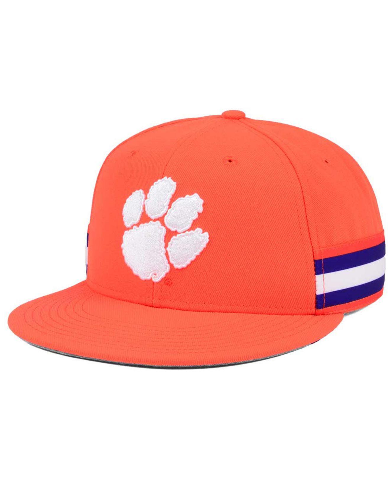 promo code cfc58 0de1f Nike Clemson Tigers True Woven Stripe Snapback Cap in Orange for Men ...