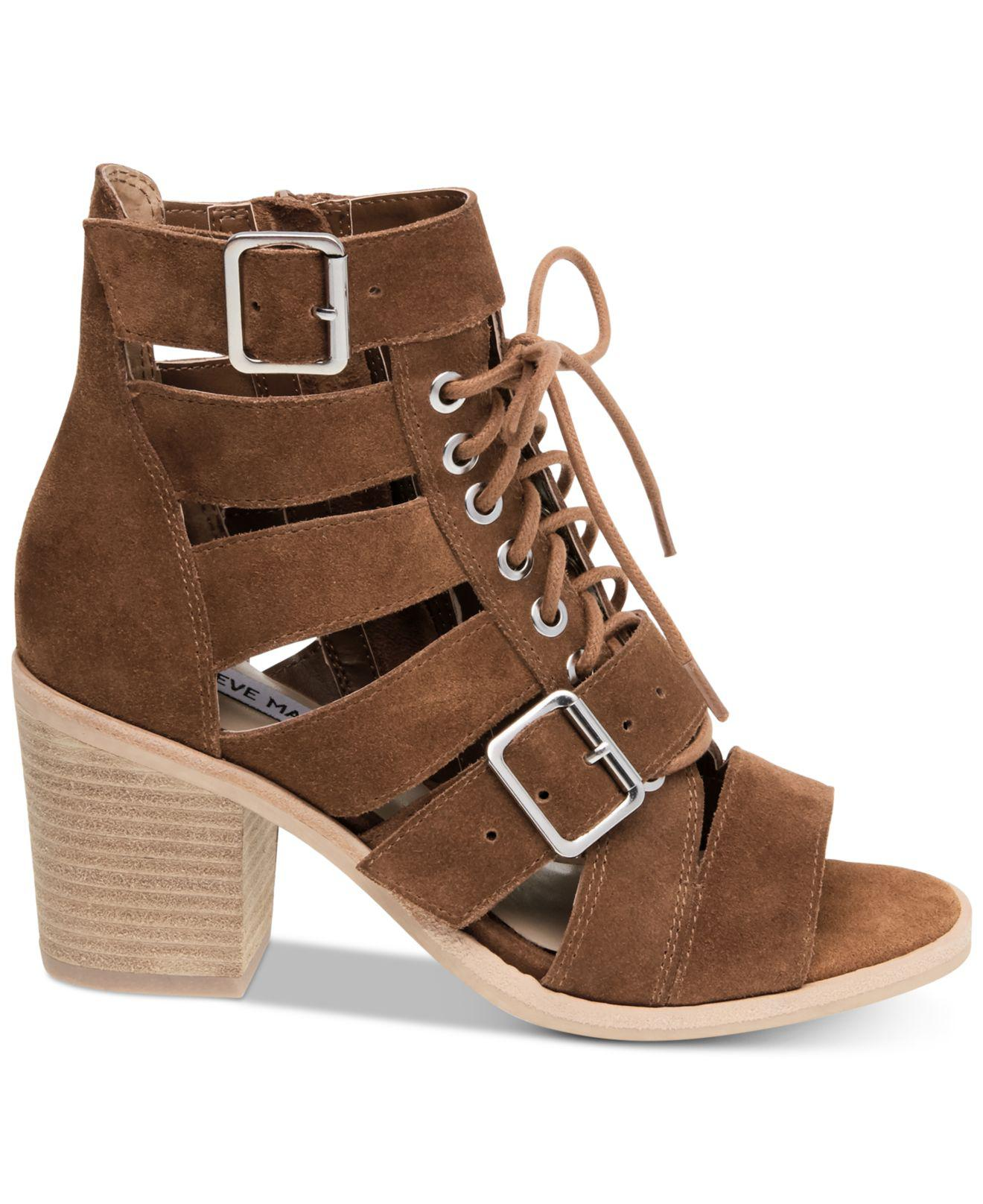 1f846eb351e0 Lyst - Steve Madden Jackson Lace-up Sandals in Brown