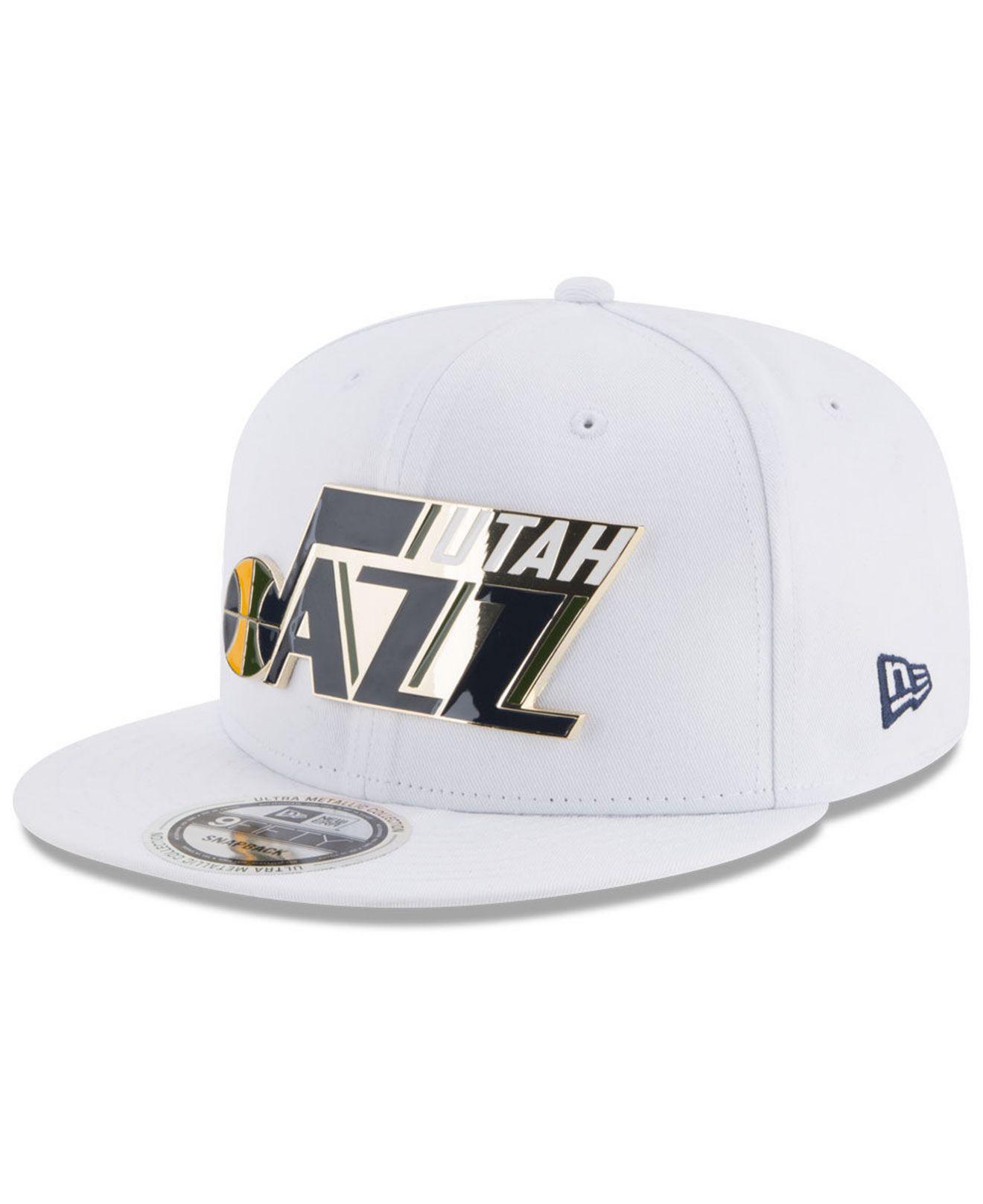 97ef9517e Lyst - KTZ Utah Jazz Enamel Badge 9fifty Snapback Cap in White for Men
