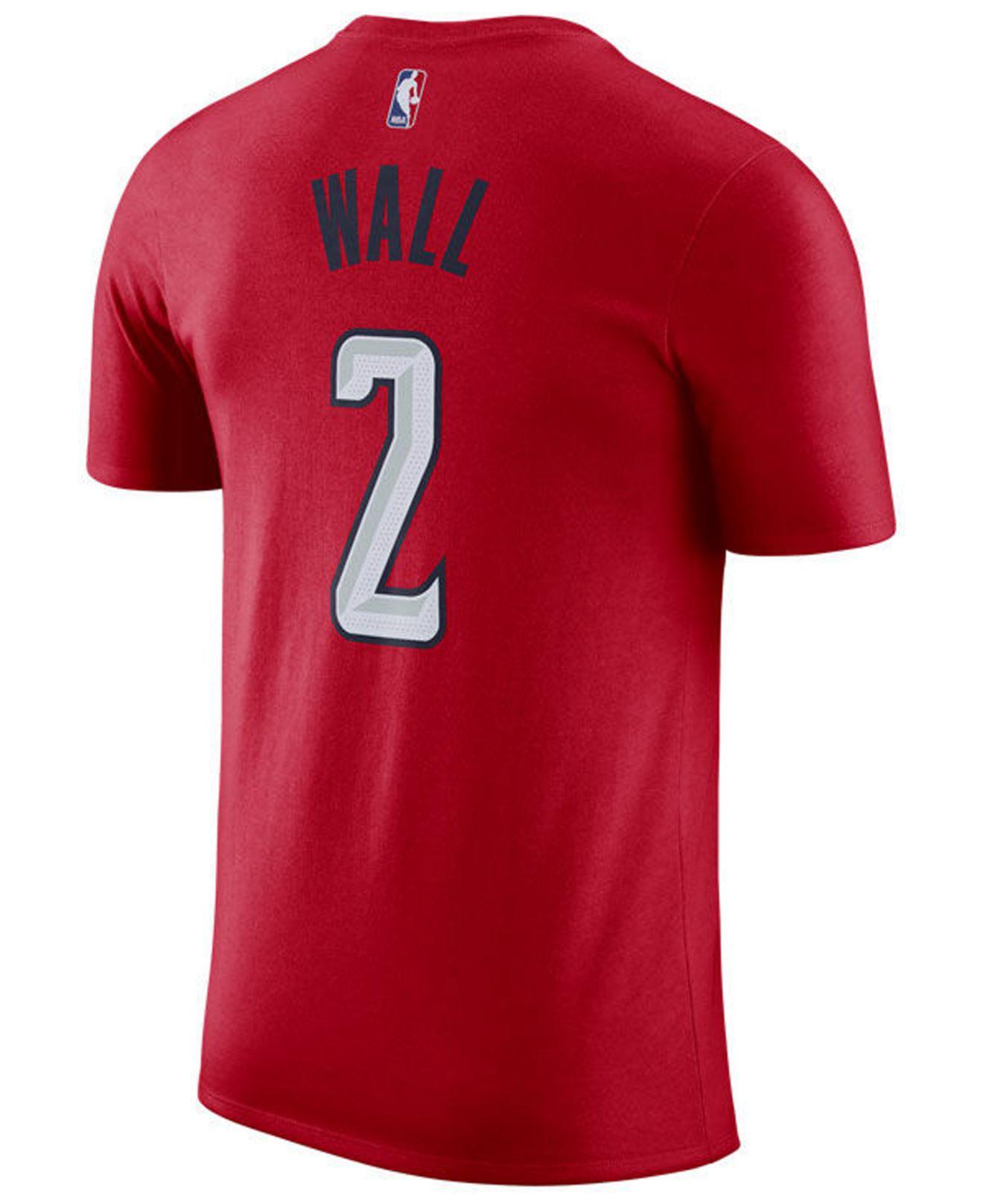 Nike. Men s Red John Wall Washington Wizards Earned Edition Player T-shirt 4b35f985b