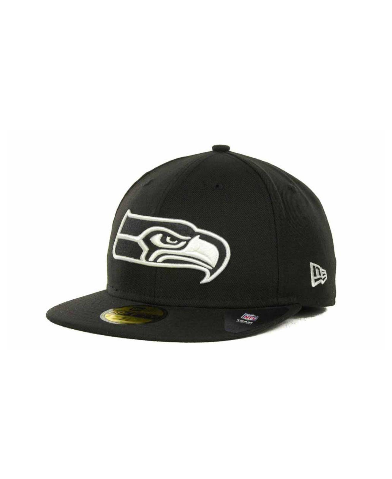 sports shoes fa53d 06077 KTZ. Men s Black Seattle Seahawks 59fifty Cap