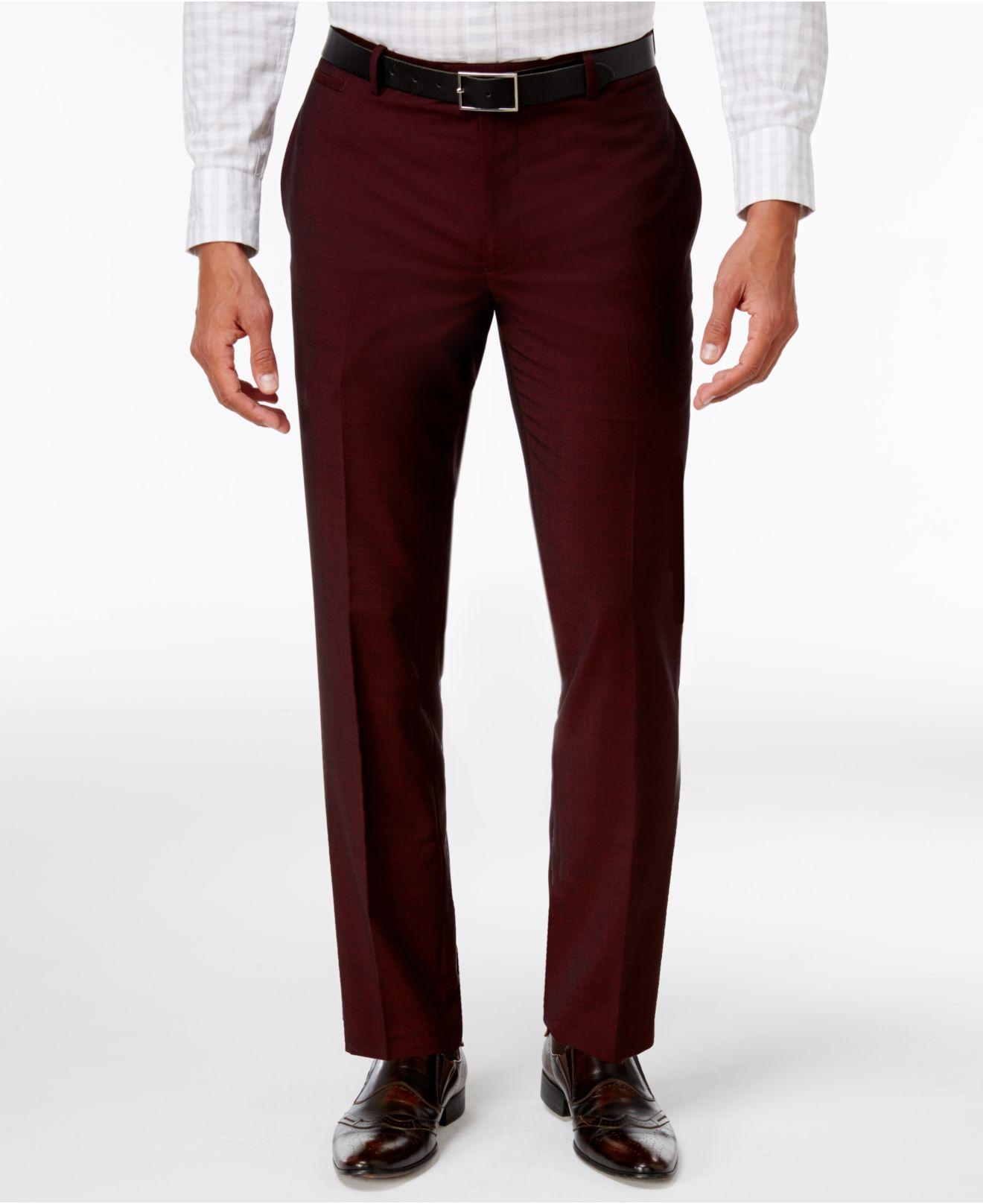 Inc International Concepts Men S Slim Fit Burgundy Pants