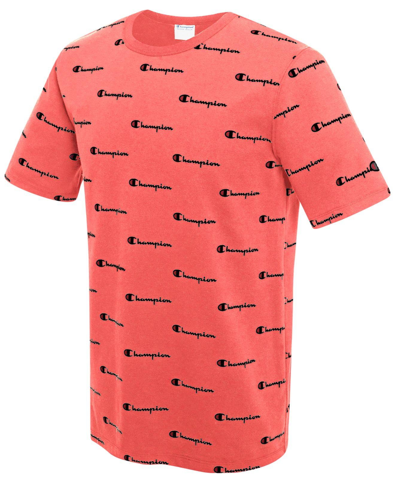 Lyst Champion Men 39 S Cotton Logo Print Heritage T Shirt