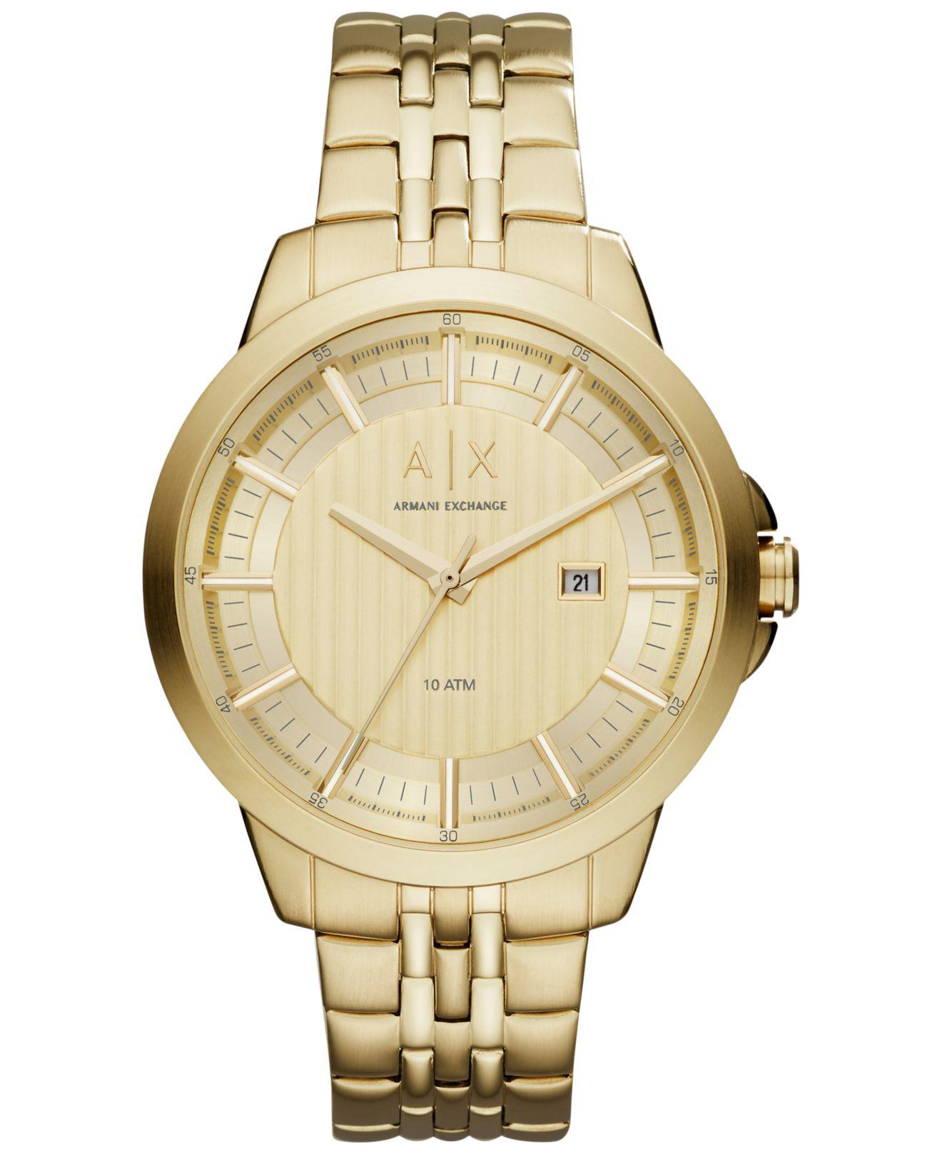 1c4b1afb55a Lyst - Armani Exchange Men s Copeland Gold-tone Stainless Steel ...
