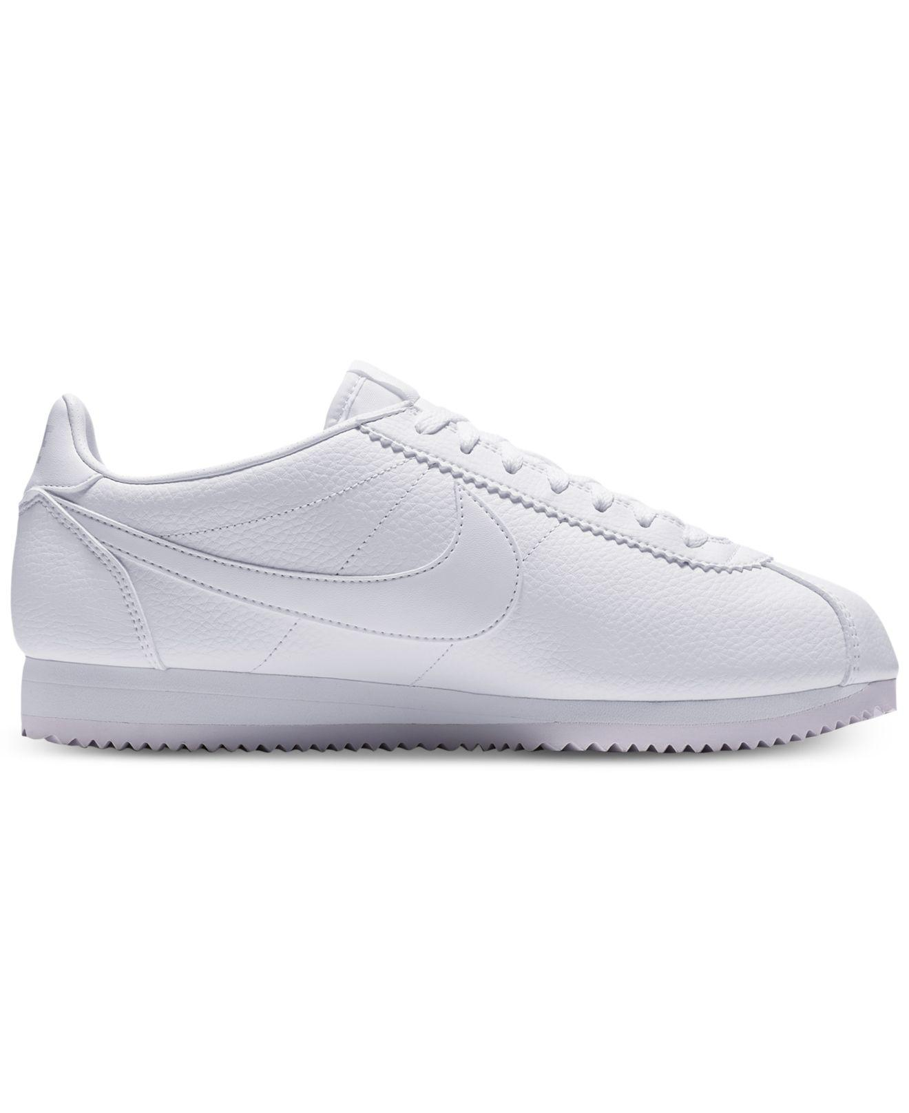 lowest price 282d4 68af7 Nike Classic Cortez Leather Casual Sneakers From Finish Line in ...