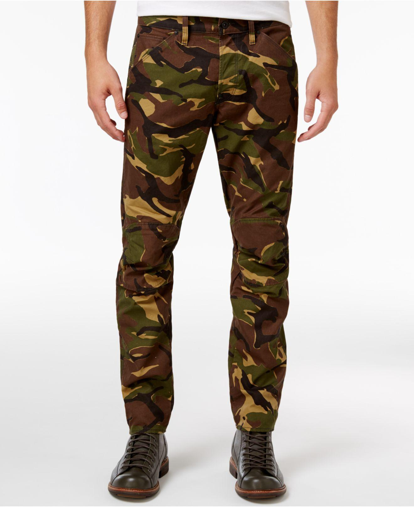 lyst g star raw men 39 s 5622 elwood slim fit woodland camouflage jeans for men. Black Bedroom Furniture Sets. Home Design Ideas