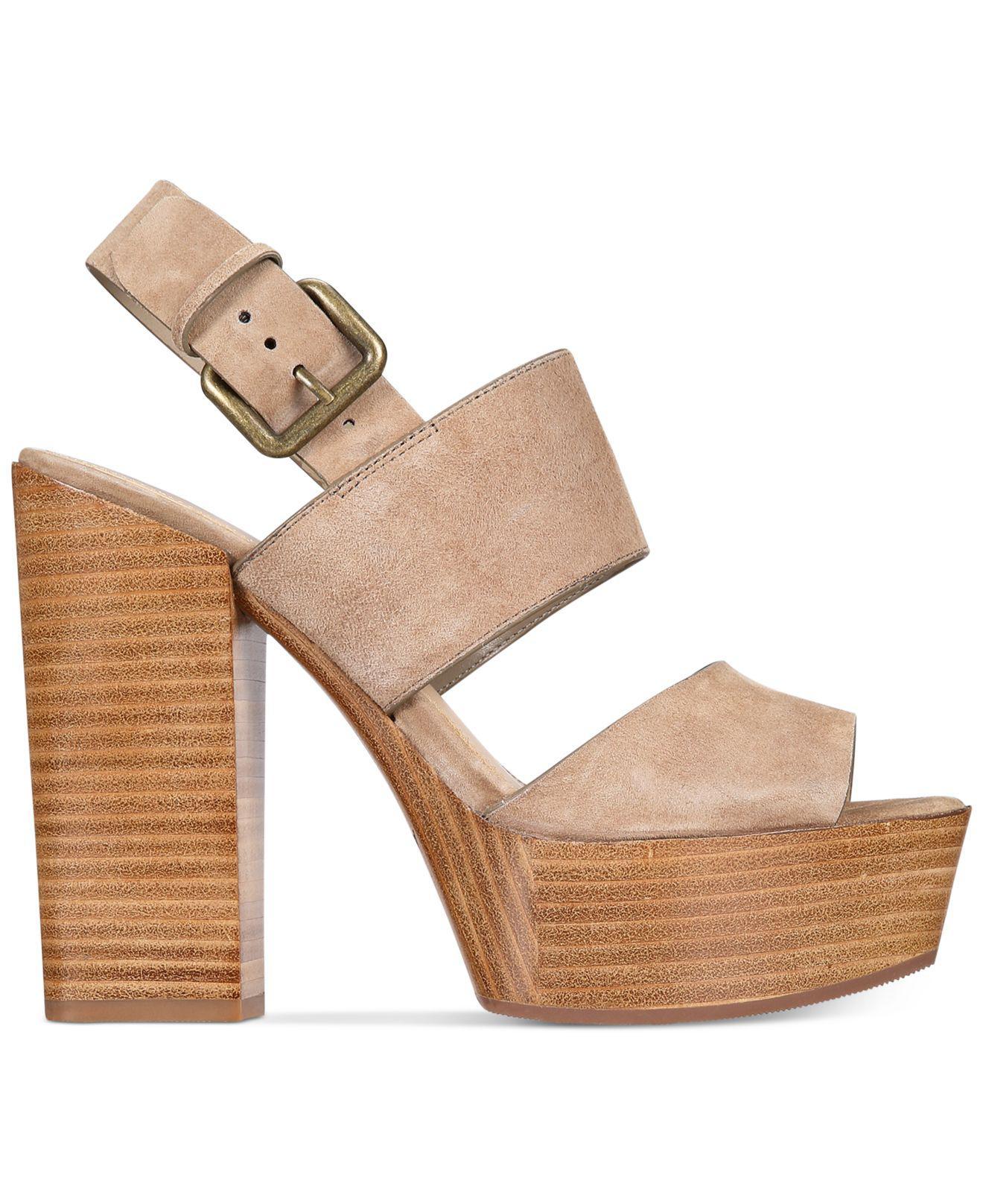 95a0e1f458 ALDO Women's Maximoa Platform Block-heel Sandals in Brown - Lyst