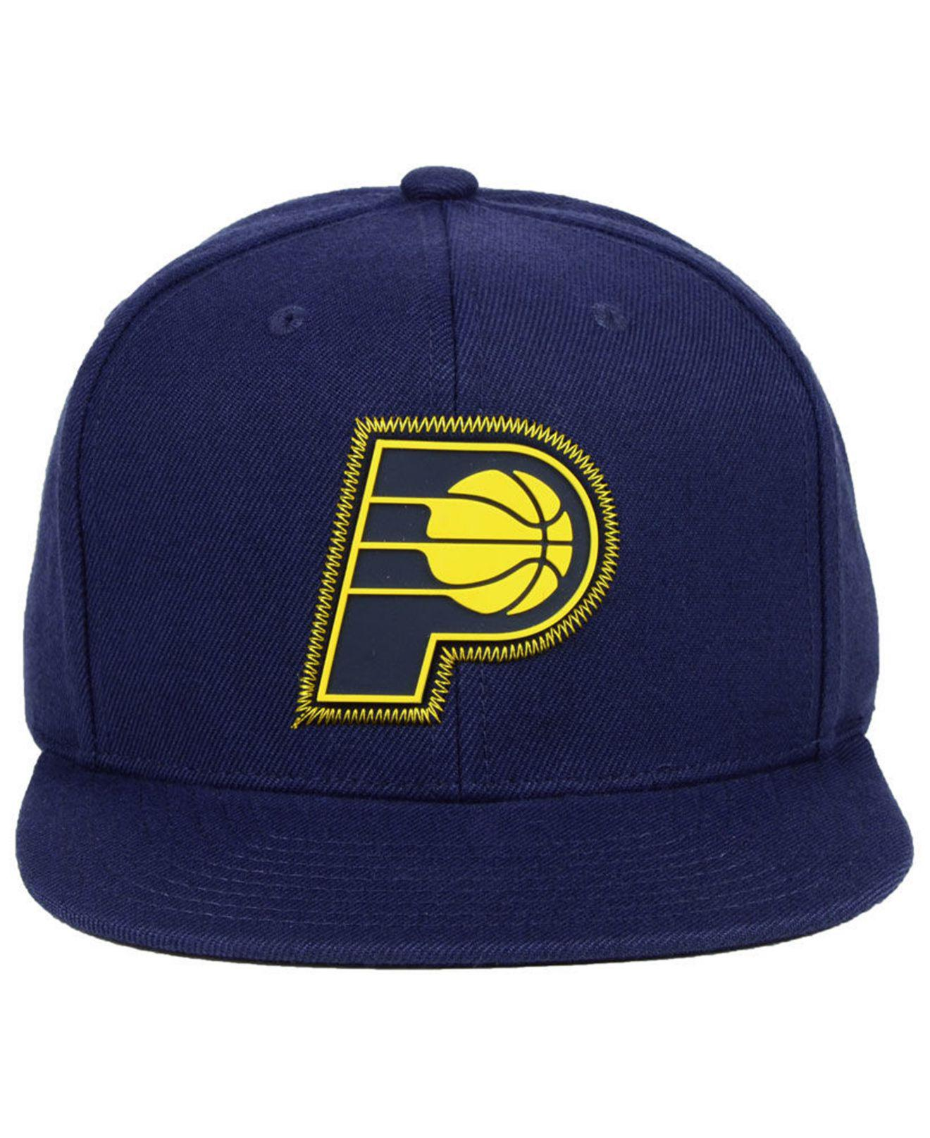 promo code fc5c1 fd3c8 Lyst - Mitchell   Ness Indiana Pacers Zig Zag Snapback Cap in Blue for Men