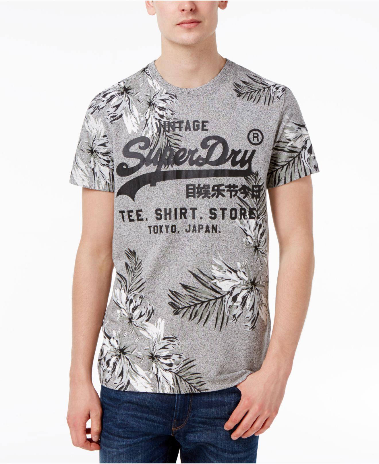 0017595ff Lyst - Superdry Men's Surf Store Floral Graphic-print Logo Cotton T ...
